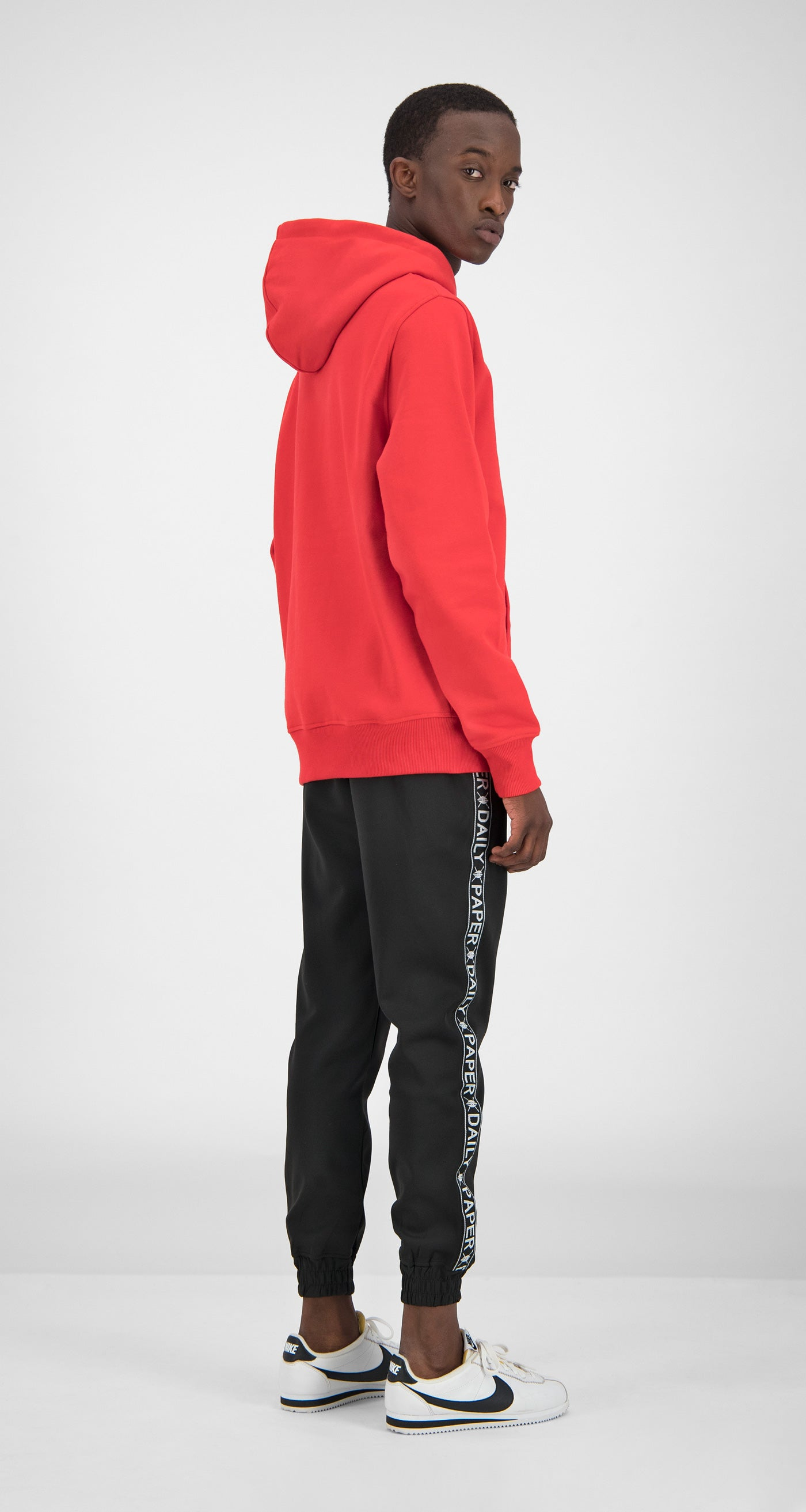 Daily Paper - Red Essential Hoody Men Rear