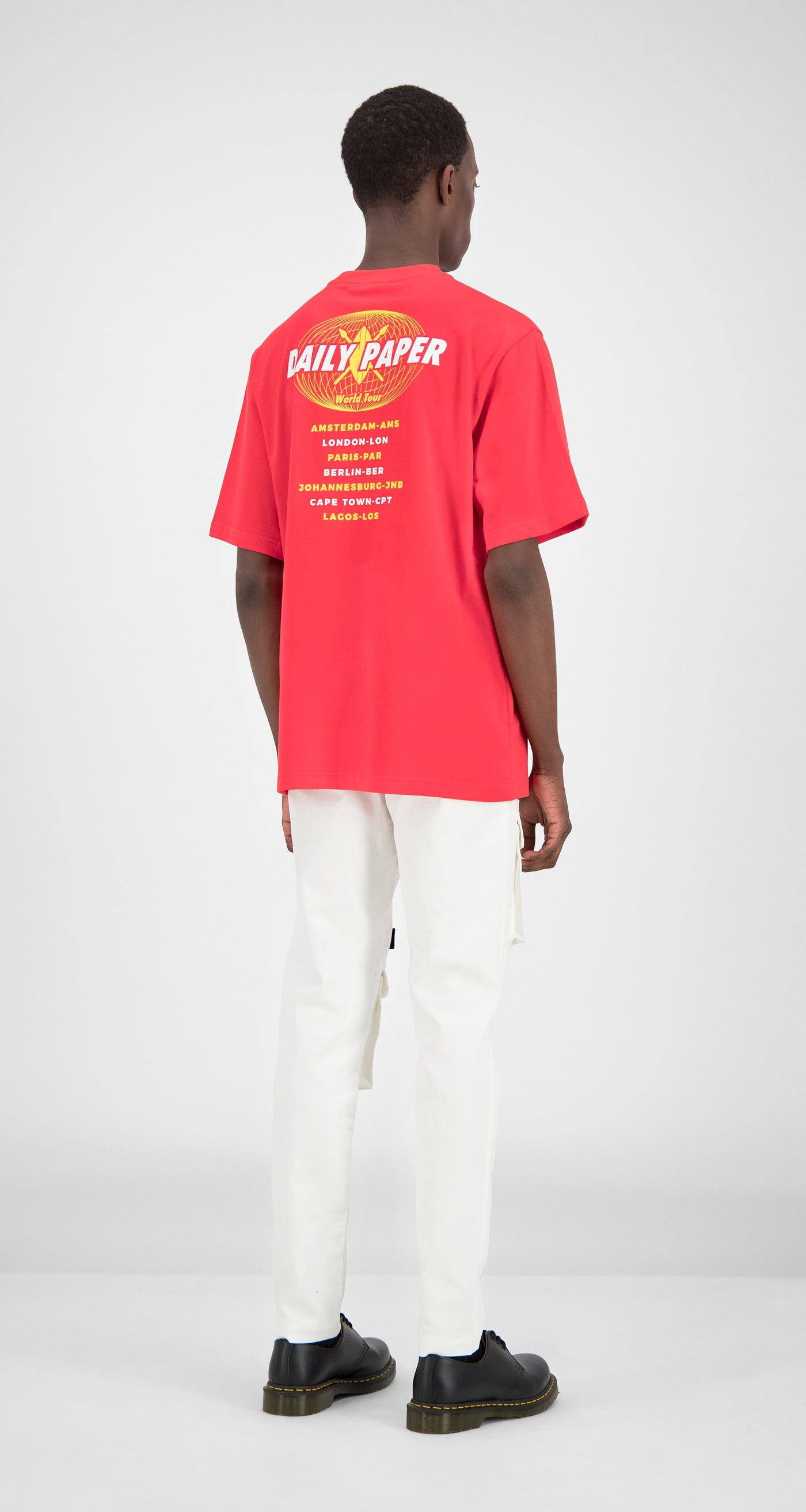 8b6f4dbe6bc Daily Paper - Red World Tour T-Shirt Men Front