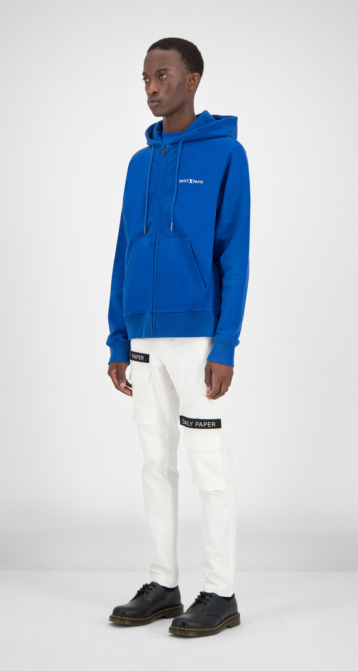 Daily Paper - Blue Shield Logo Zipped Hoody Men