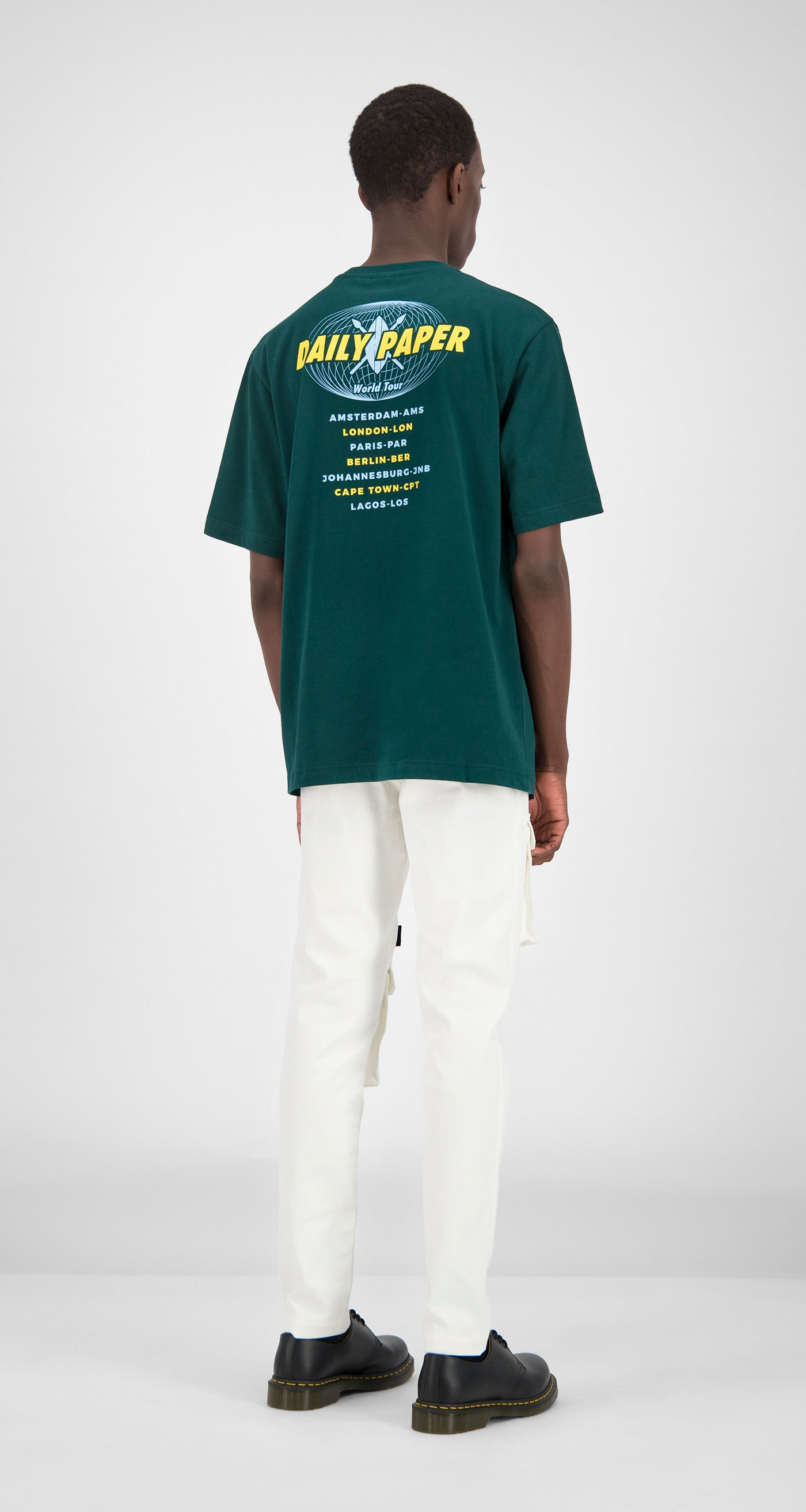Daily Paper - Dark Green World Tour T-Shirt Men Front