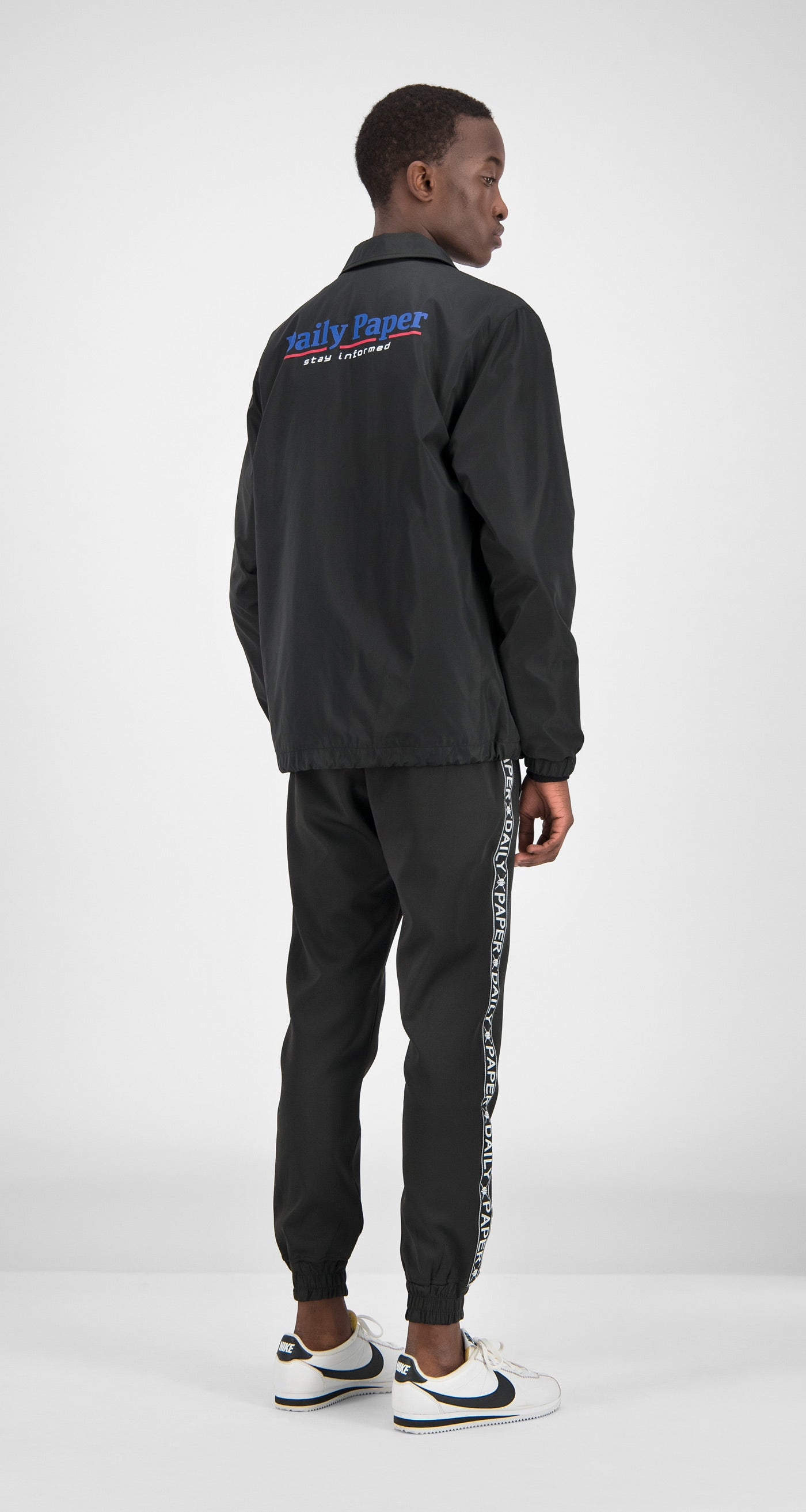 Daily Paper - Black Essential Coach Jacket Men Rear