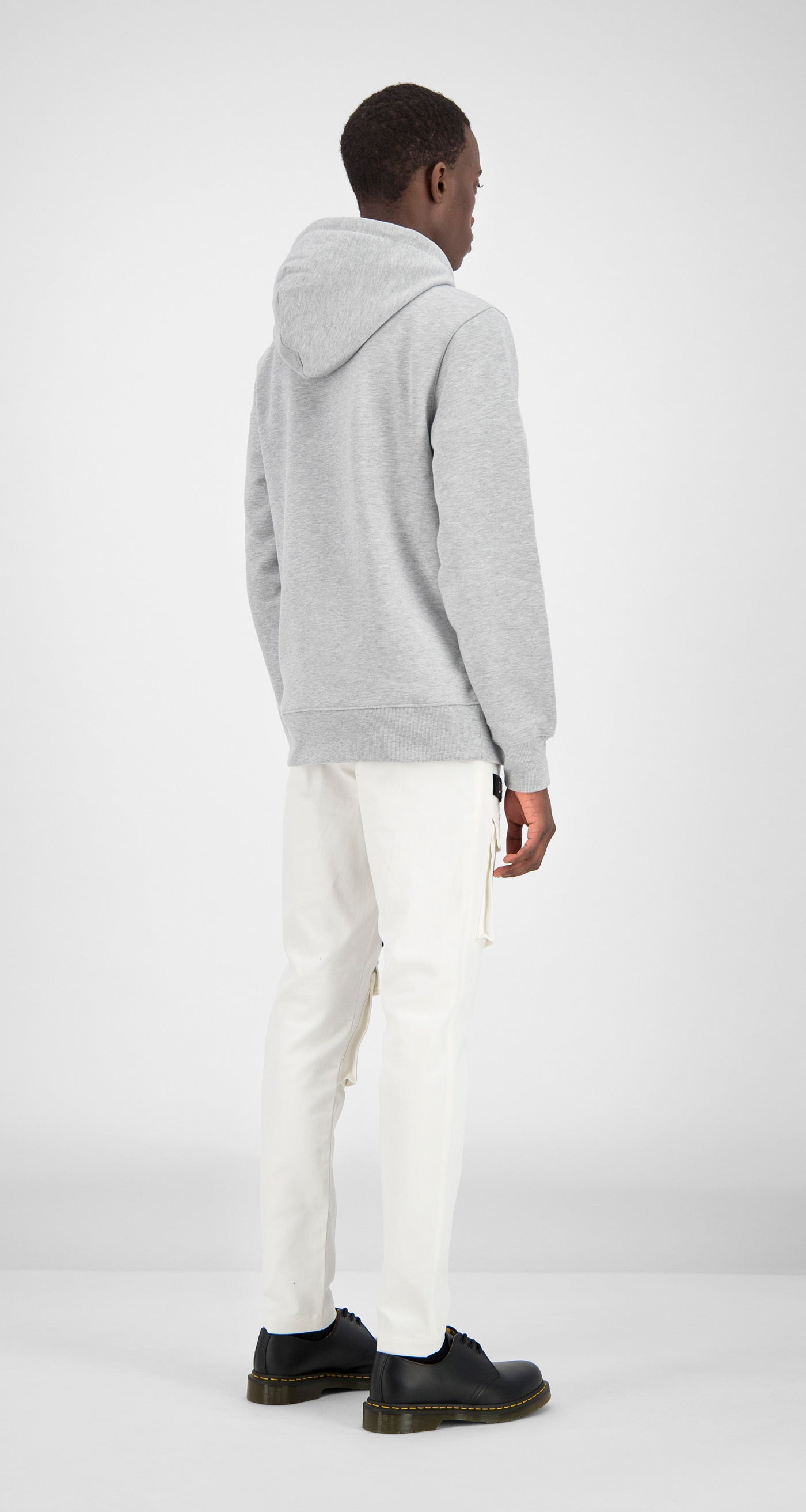Daily Paper - Grey Alias Hoody Men Rear
