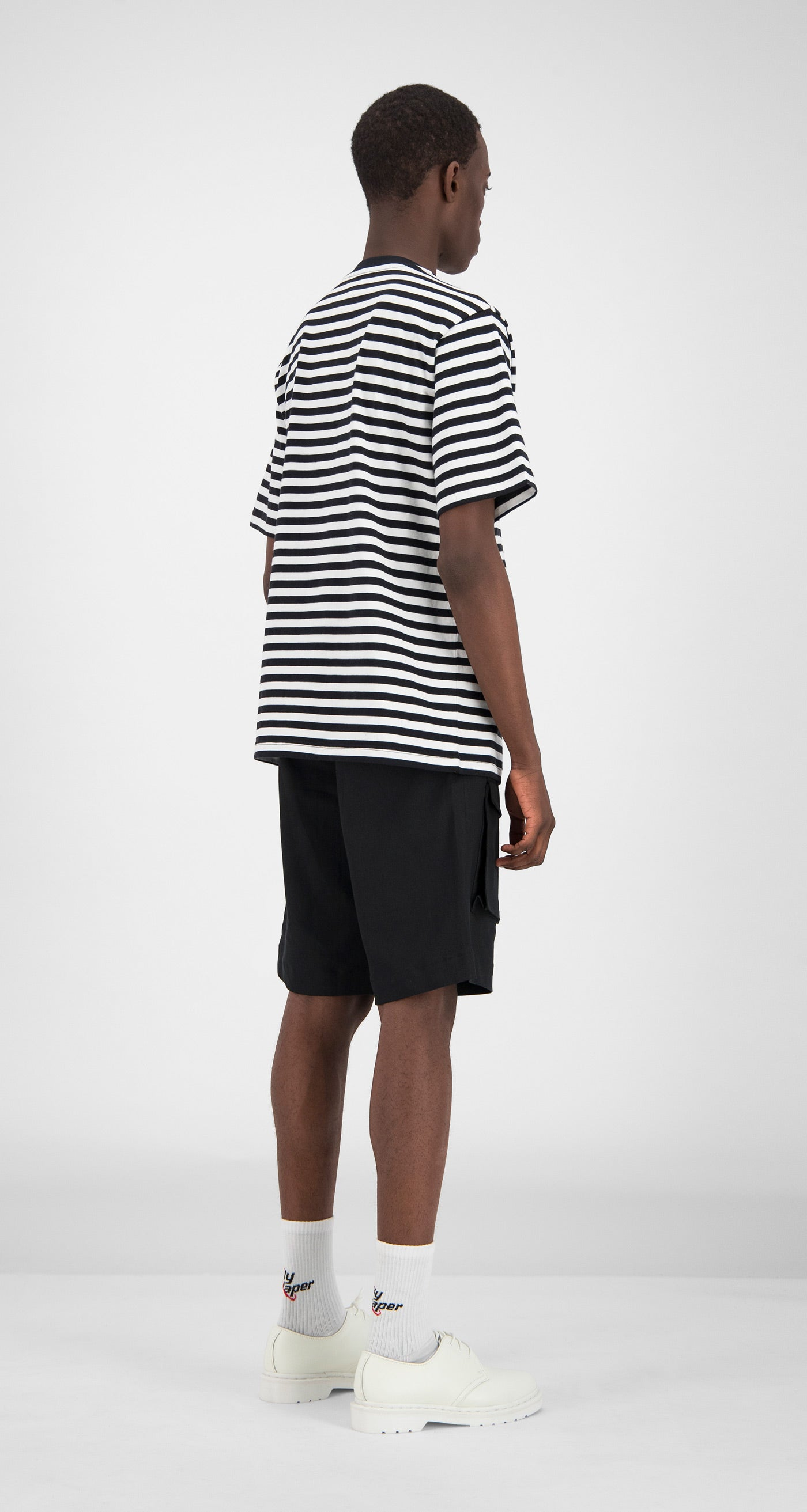 Daily Paper - Striped Essential T-Shirt Men Rear