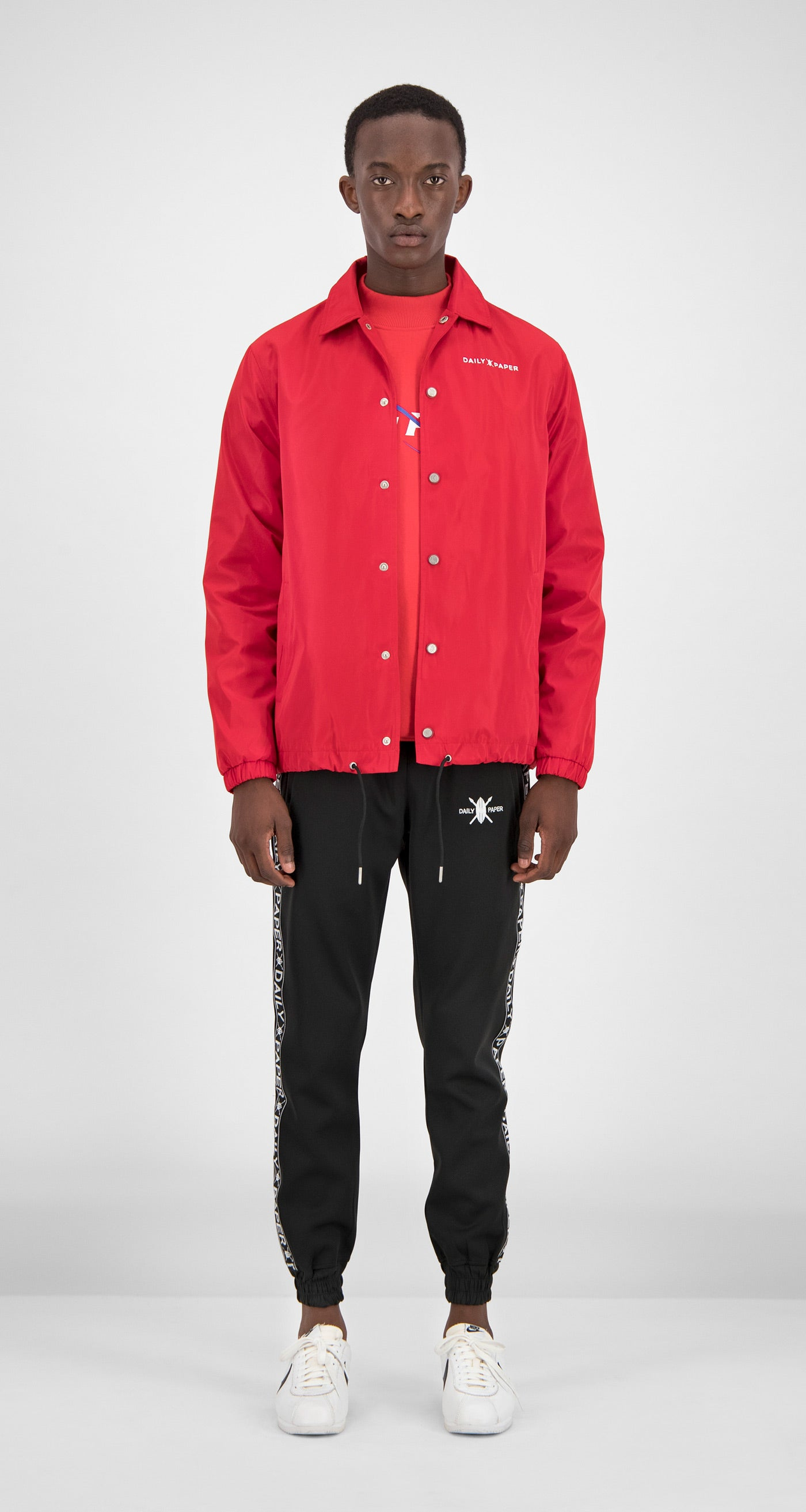 Daily Paper - Red Essential Coach Jacket Men Front