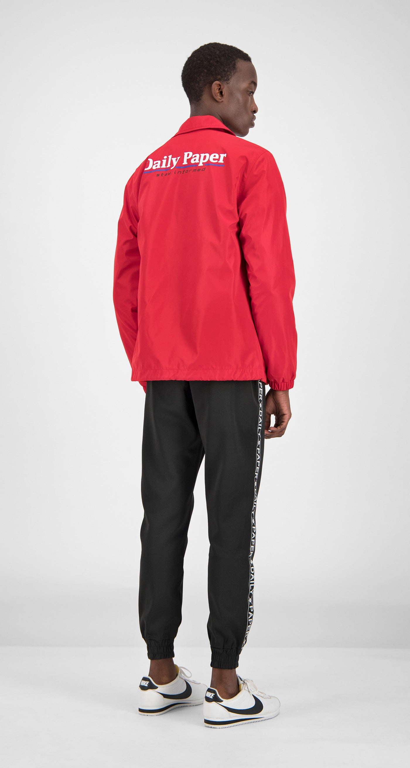 Daily Paper - Red Essential Coach Jacket Men Rear