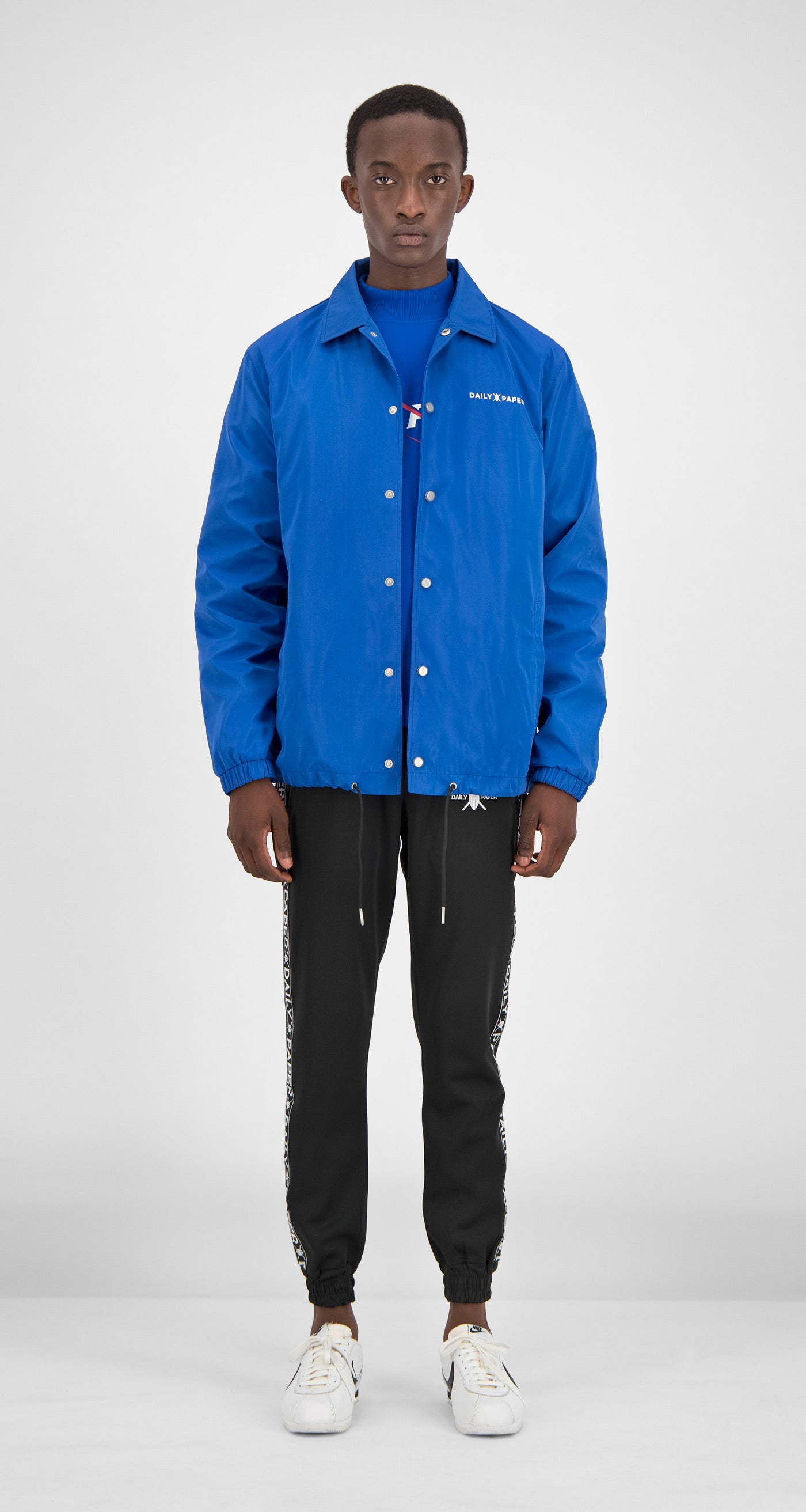 Daily Paper - Blue Essential Coach Jacket Men Front