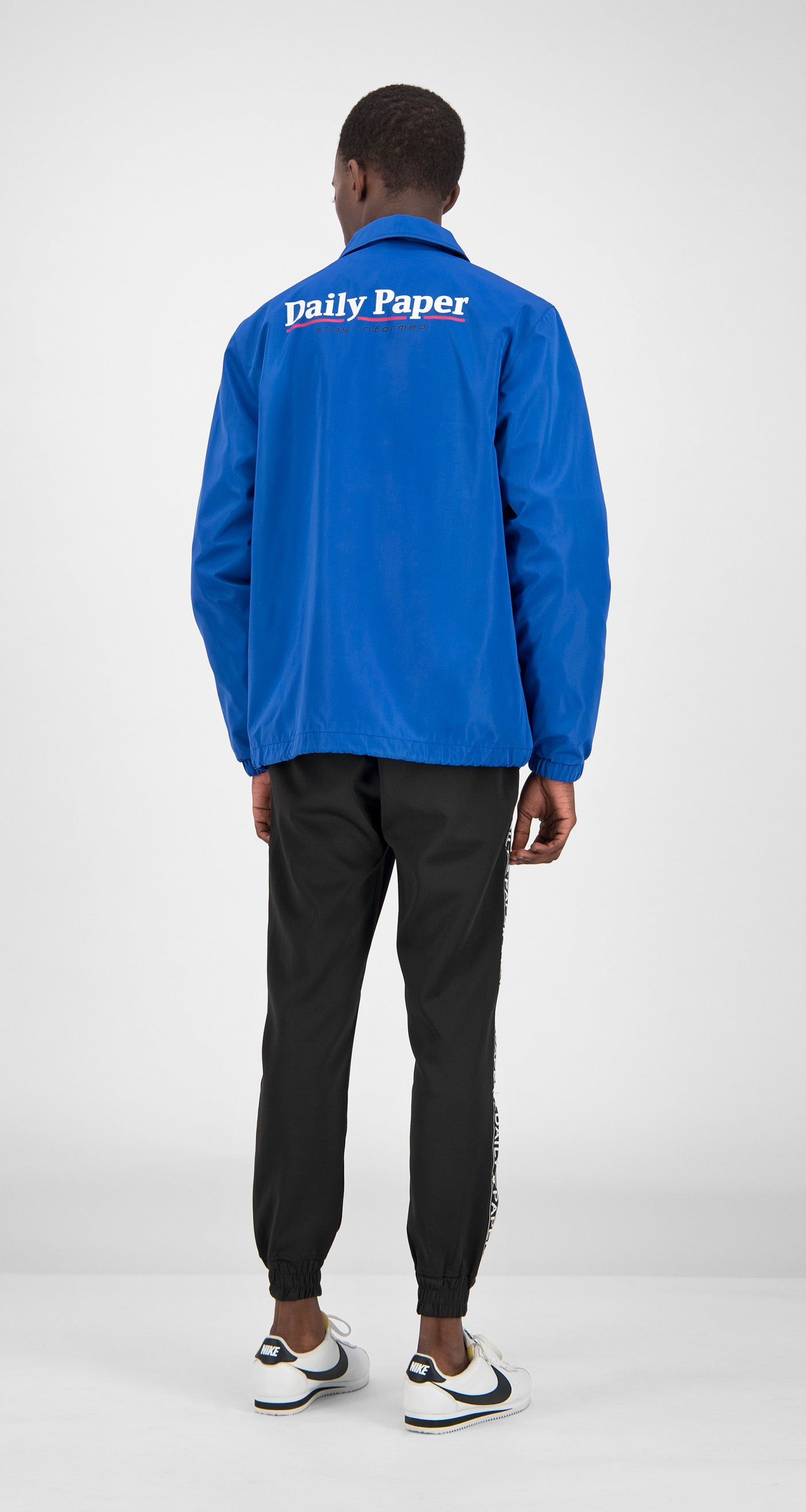 Daily Paper - Blue Essential Coach Jacket Men Rear