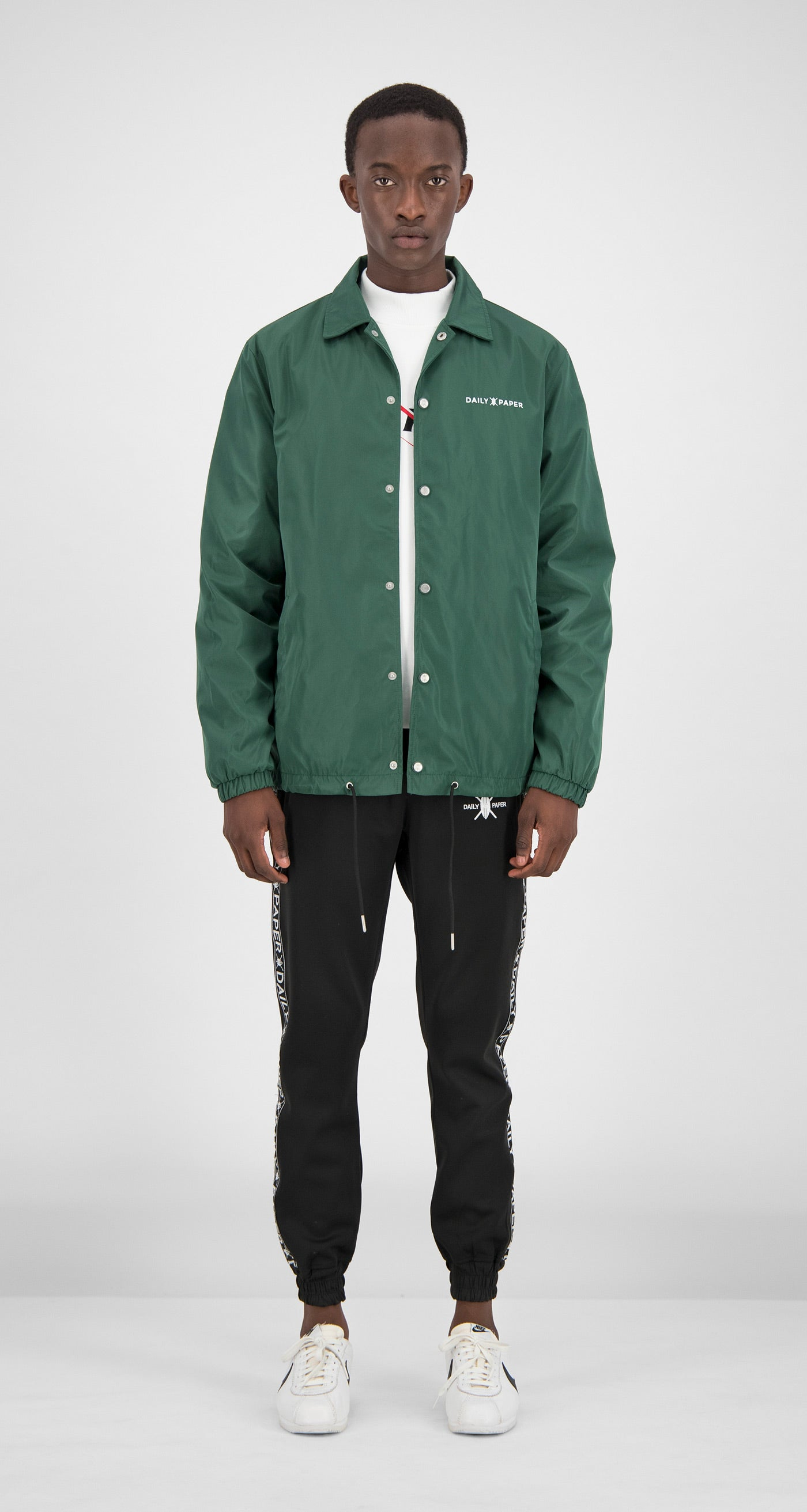 Daily Paper - Green Essential Coach Jacket Men Front