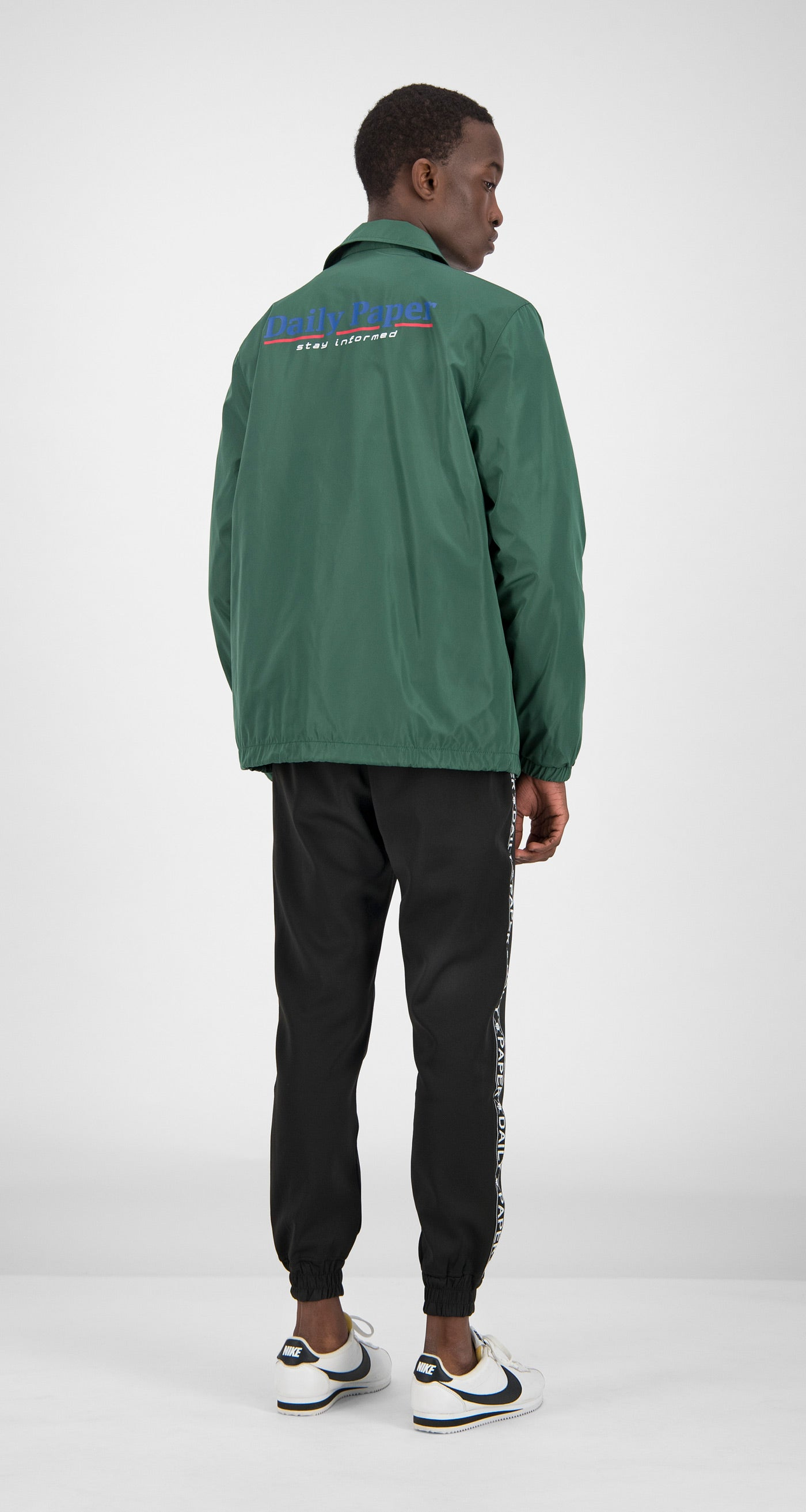 Daily Paper - Green Essential Coach Jacket Men Rear