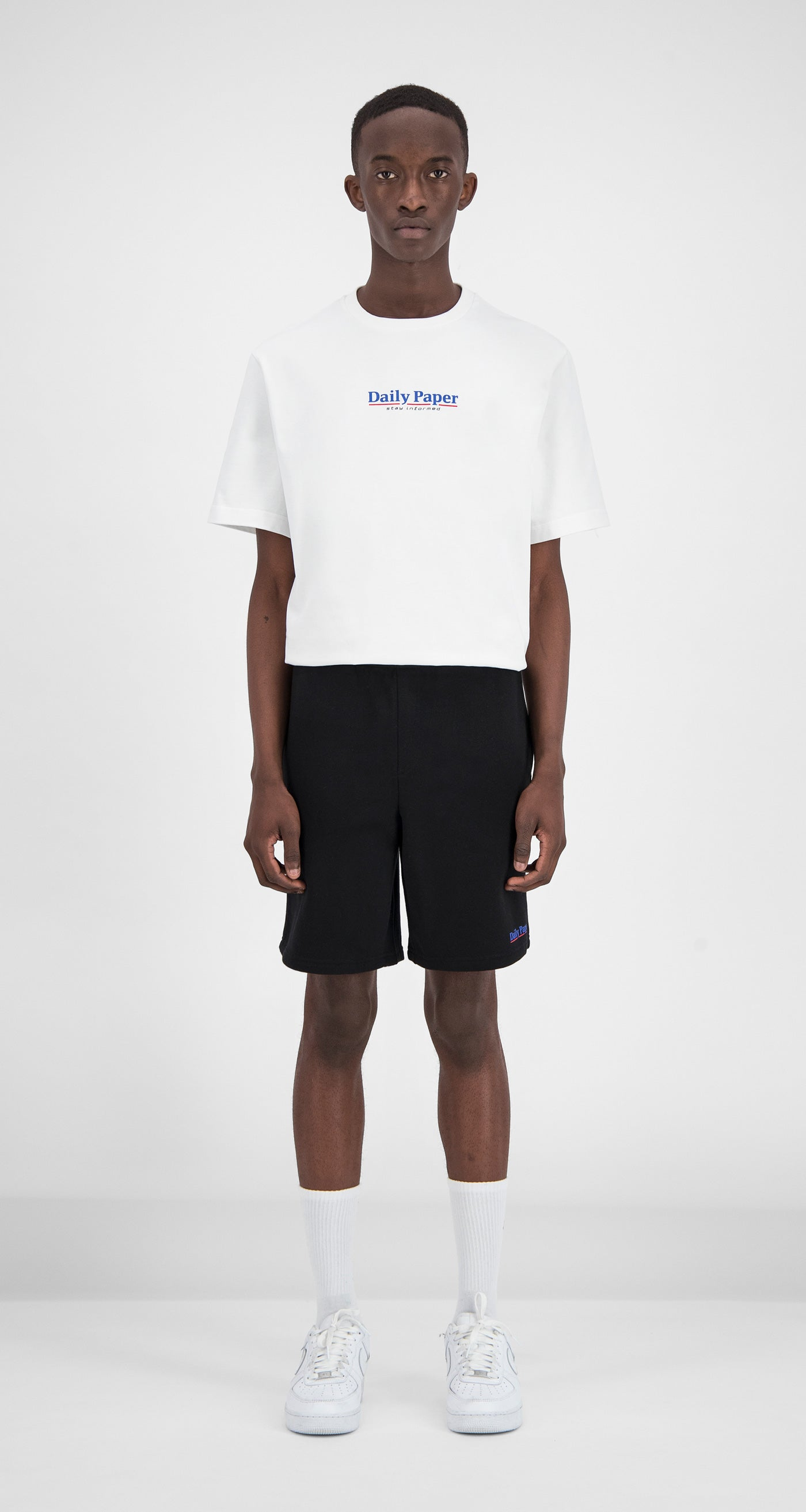 Daily Paper - Black Essential Fleece Short Men Front