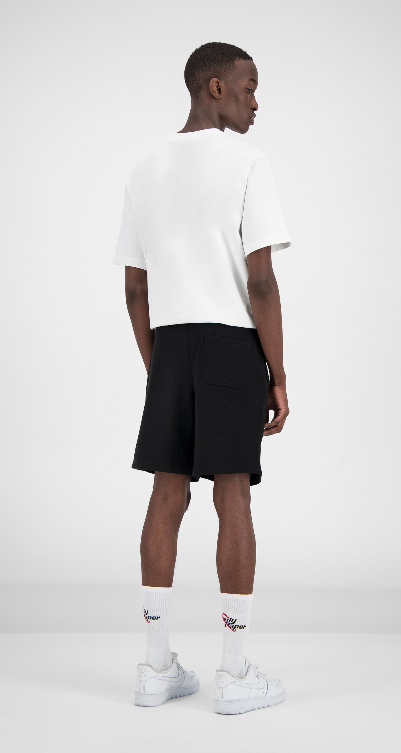Daily Paper - Black Essential Fleece Short Men Rear