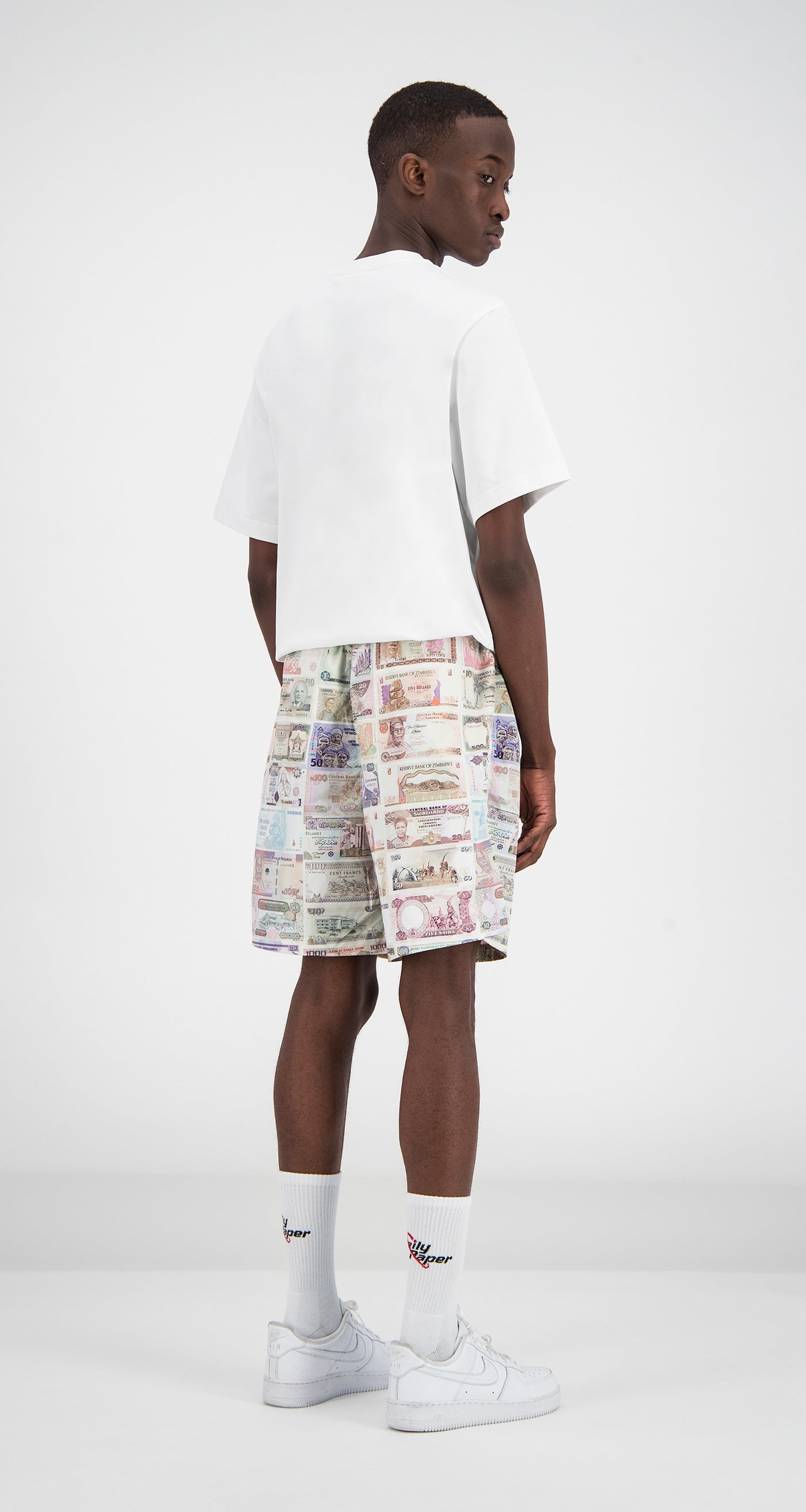 Daily Paper - Printed Money Fali Swimshorts Men Rear