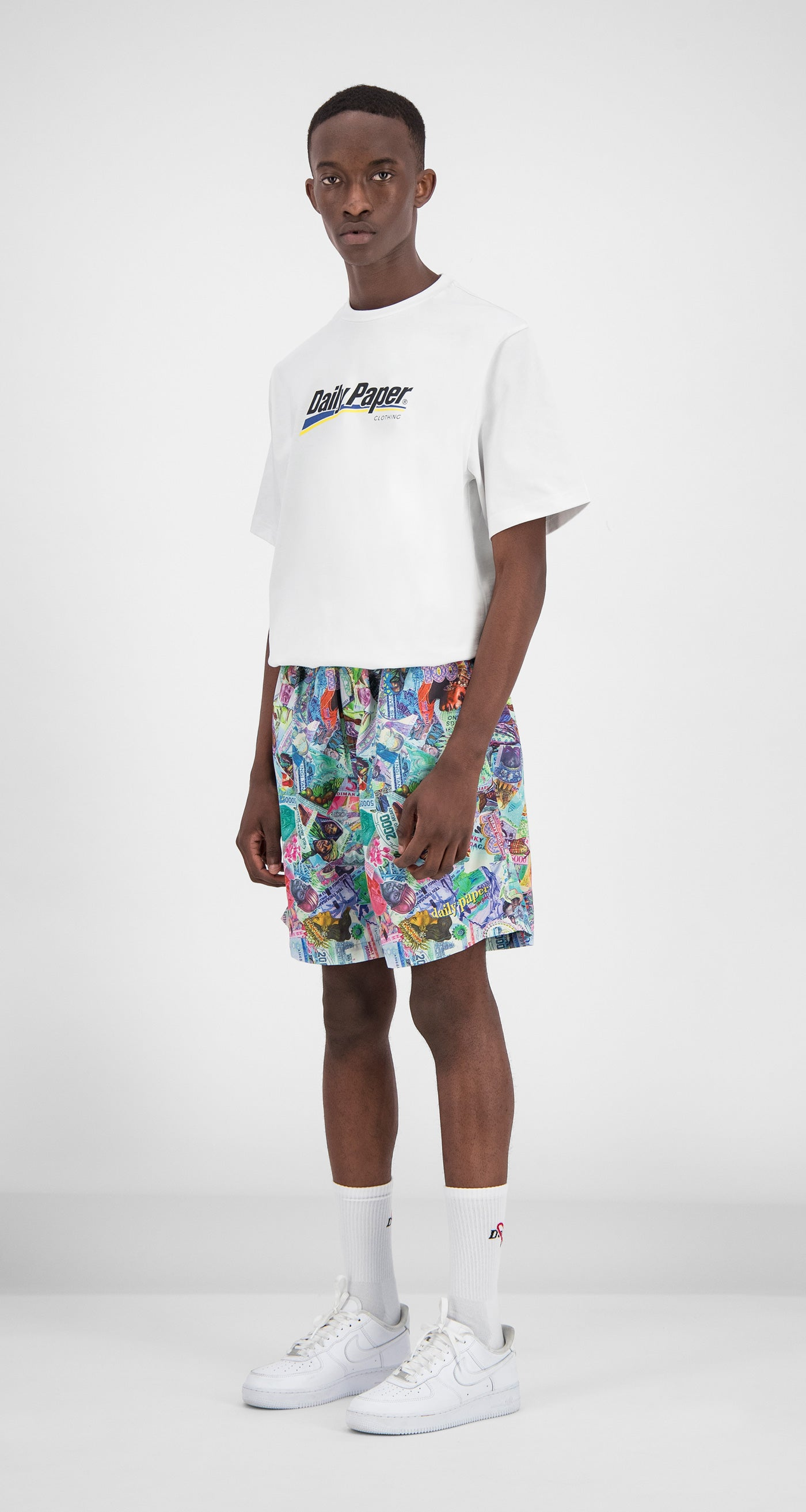 Daily Paper – Printed Money Collage Fali Swimshorts Men