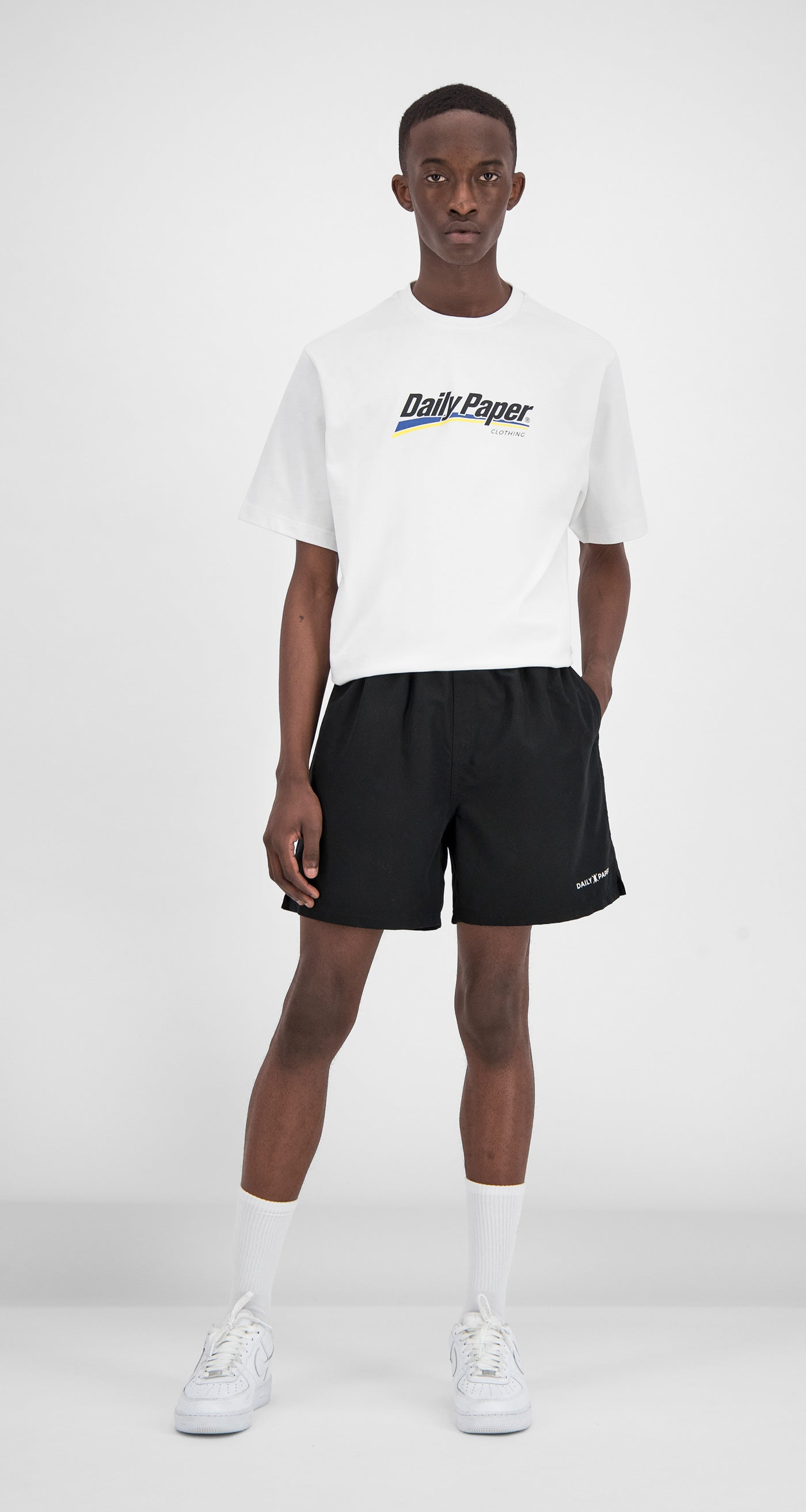 Daily Paper - Black Water-Activated Swimshort Men Front