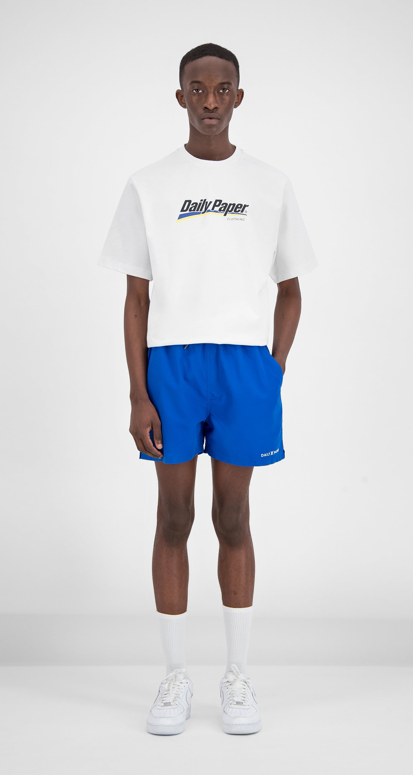 Daily Paper - Blue Water-Activated Swimshort Men Front