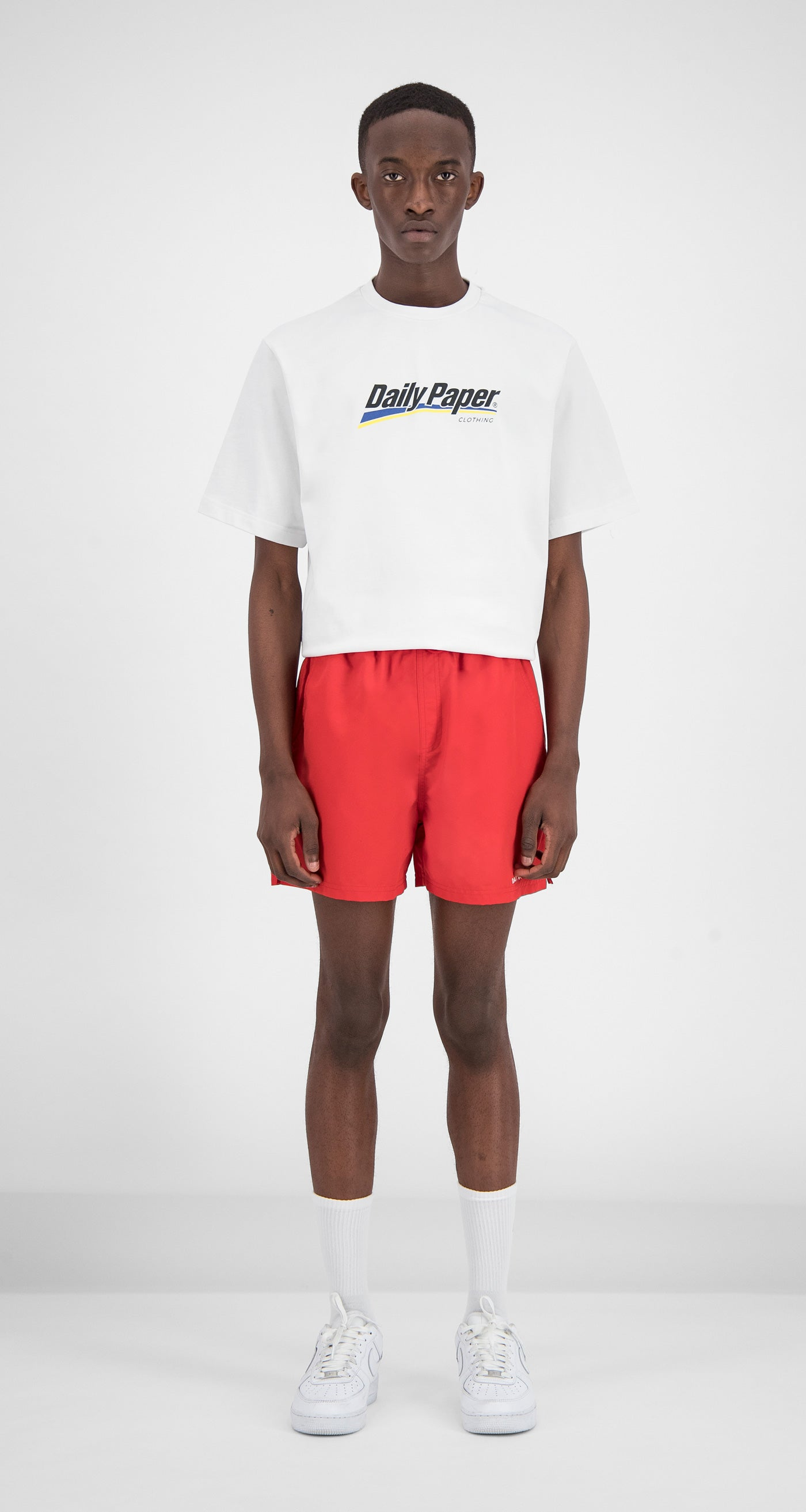 Daily Paper - Red Water-Activated Swimshort Men Front