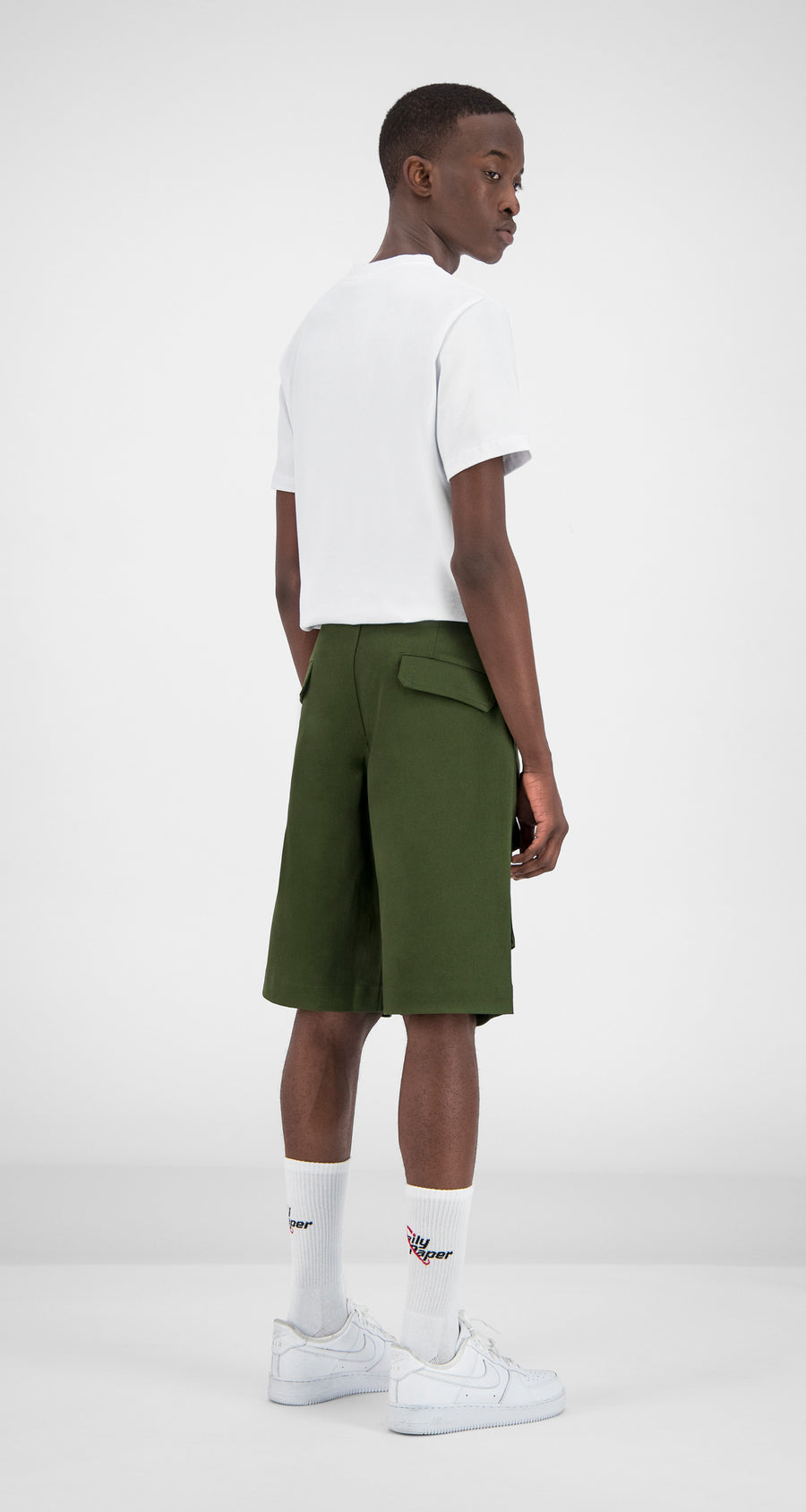 Daily Paper - Cargo Shorts Olive Green Men Rear