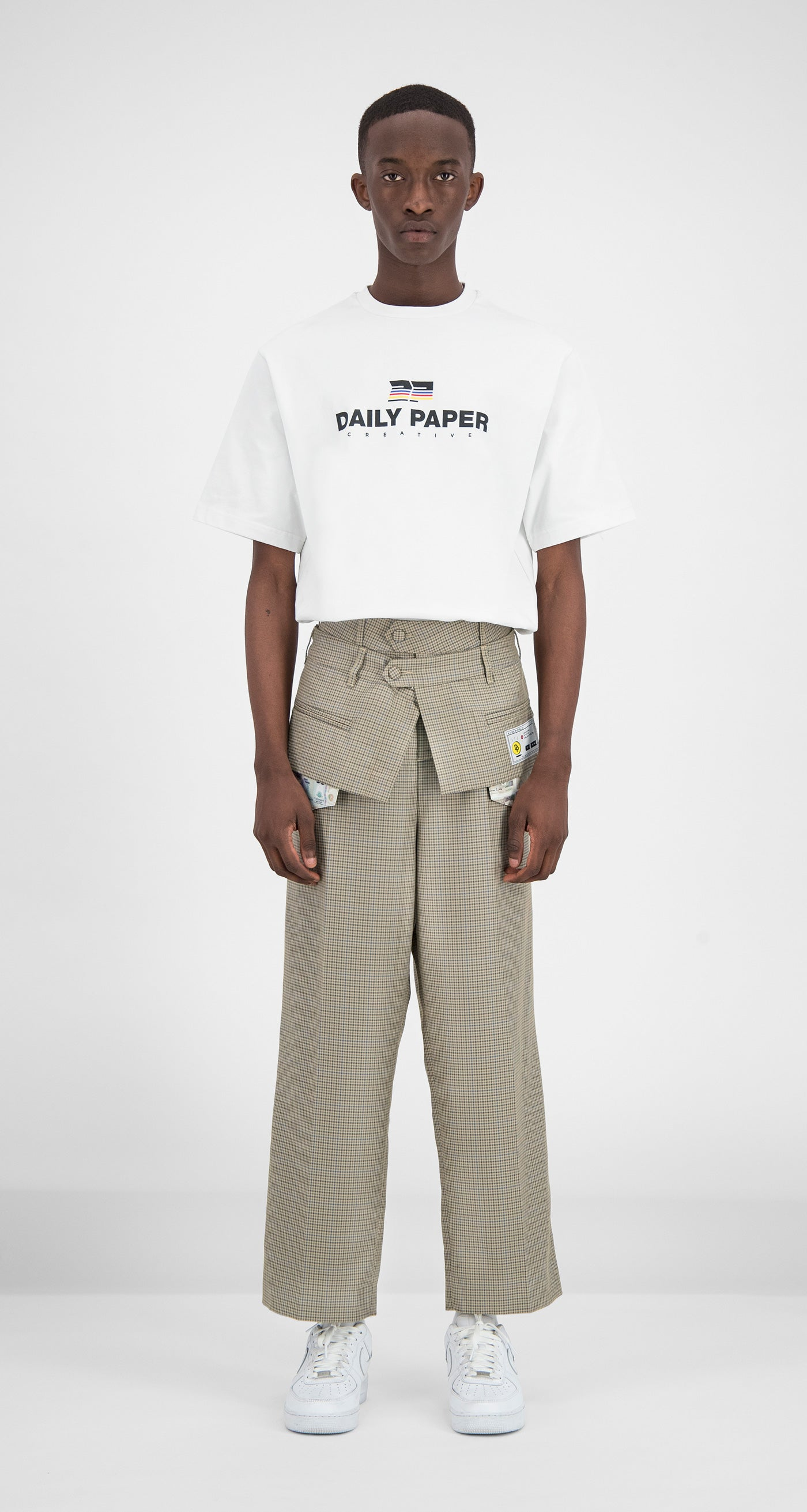 Daily Paper - Taupe Flart Pants Men Front