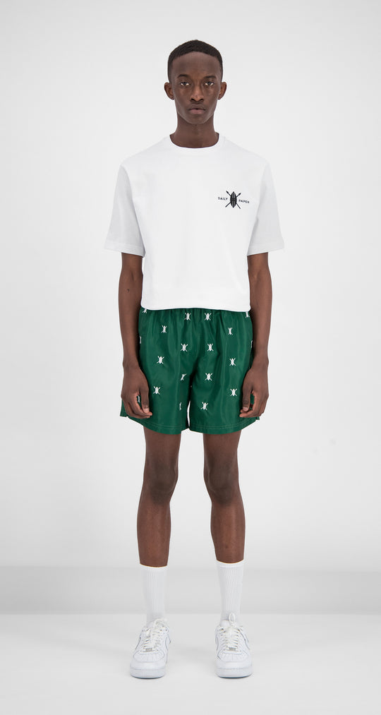 Daily Paper - Green Shield Logo Swimshorts Men Front