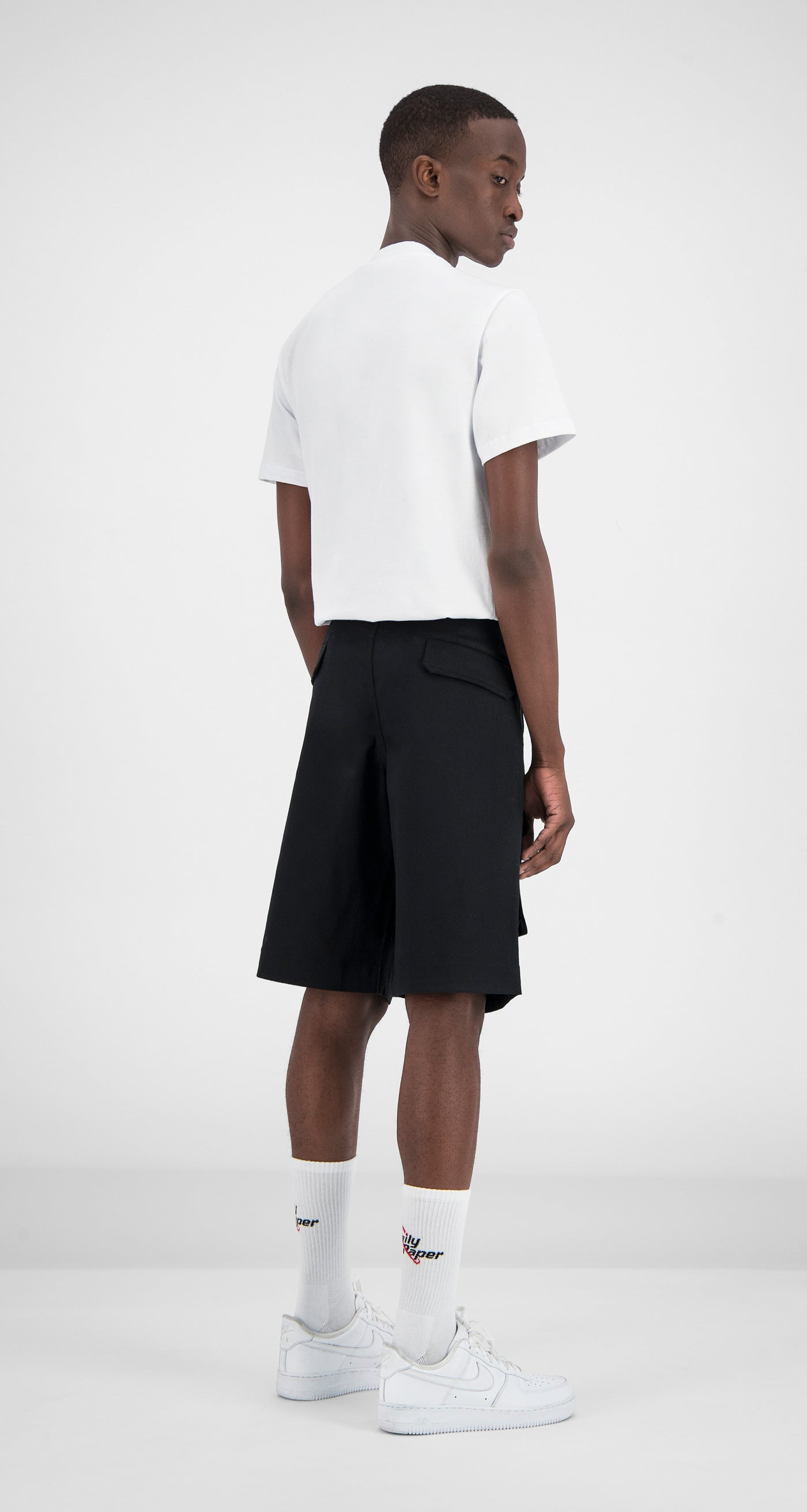 Daily Paper - Cargo Shorts Black Men Rear
