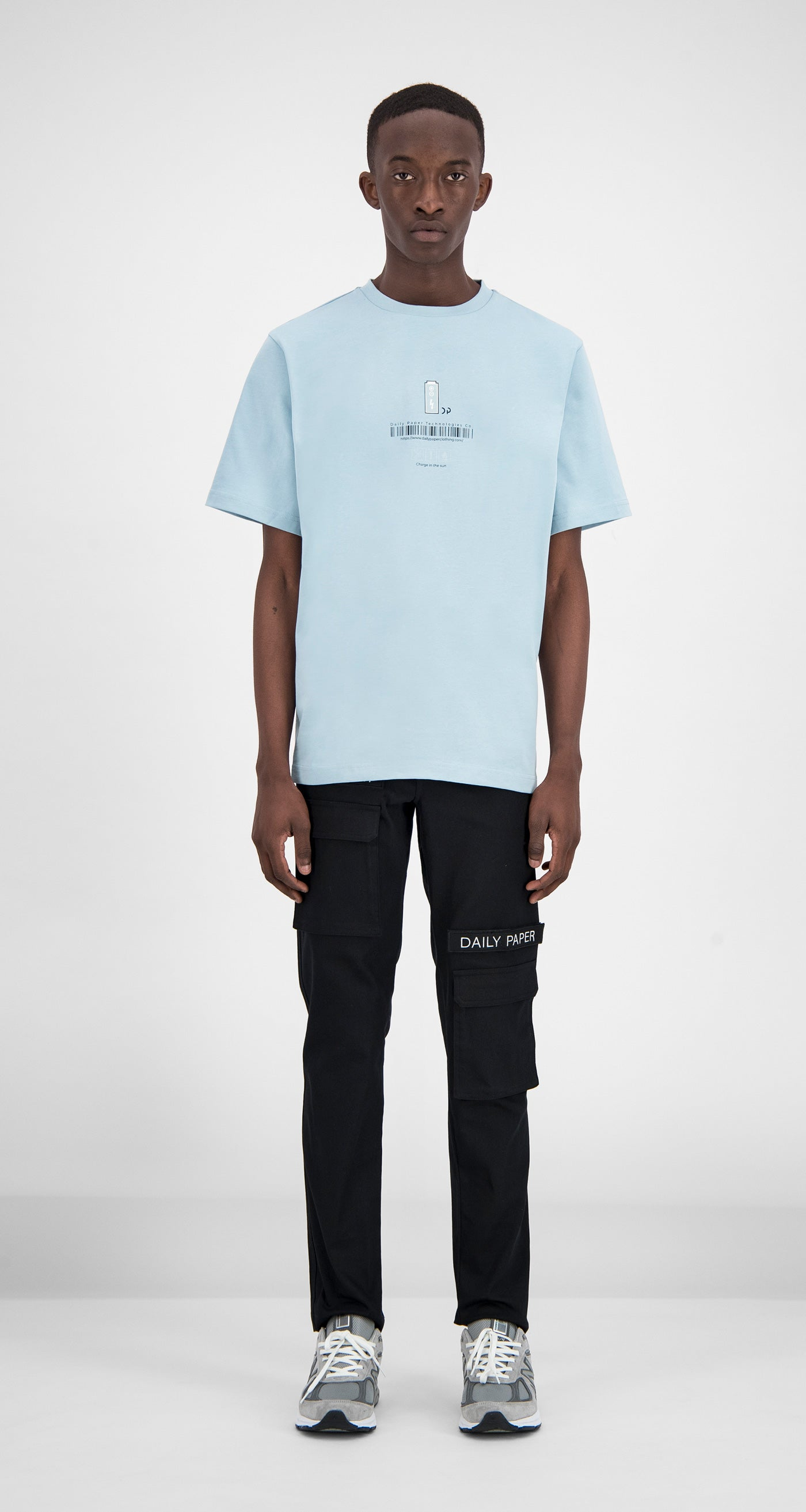Daily Paper - Light Blue Fitot T-Shirt Men Front