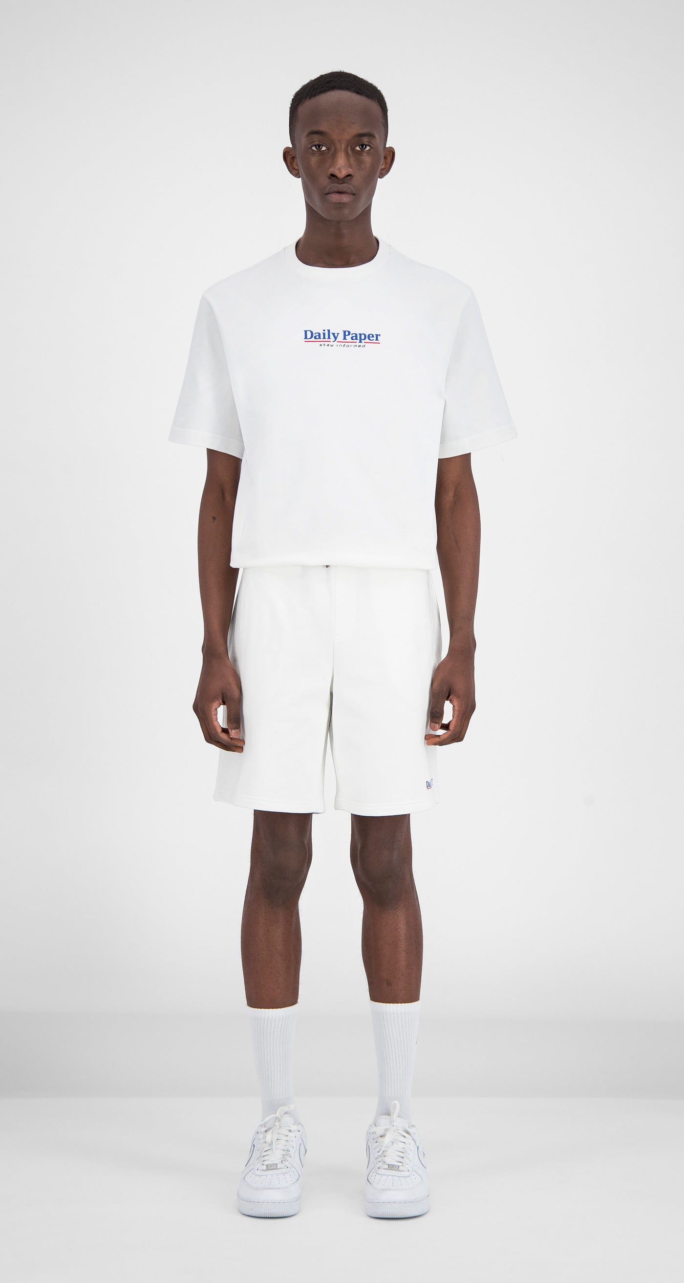 Daily Paper - White Essential Fleece Short Men Front