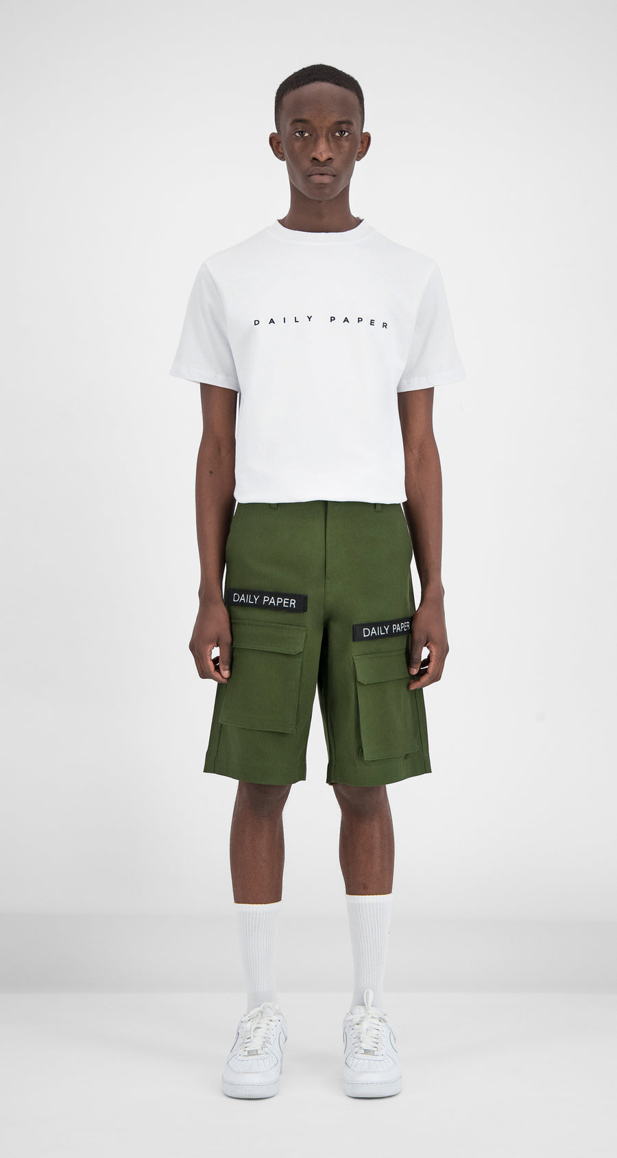 Daily Paper - Cargo Shorts Olive Green Men Front