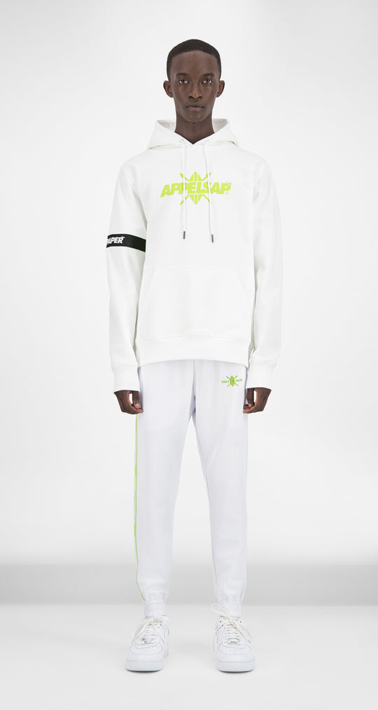 Daily Paper x Appelsap White Captain Hoody - Men Front