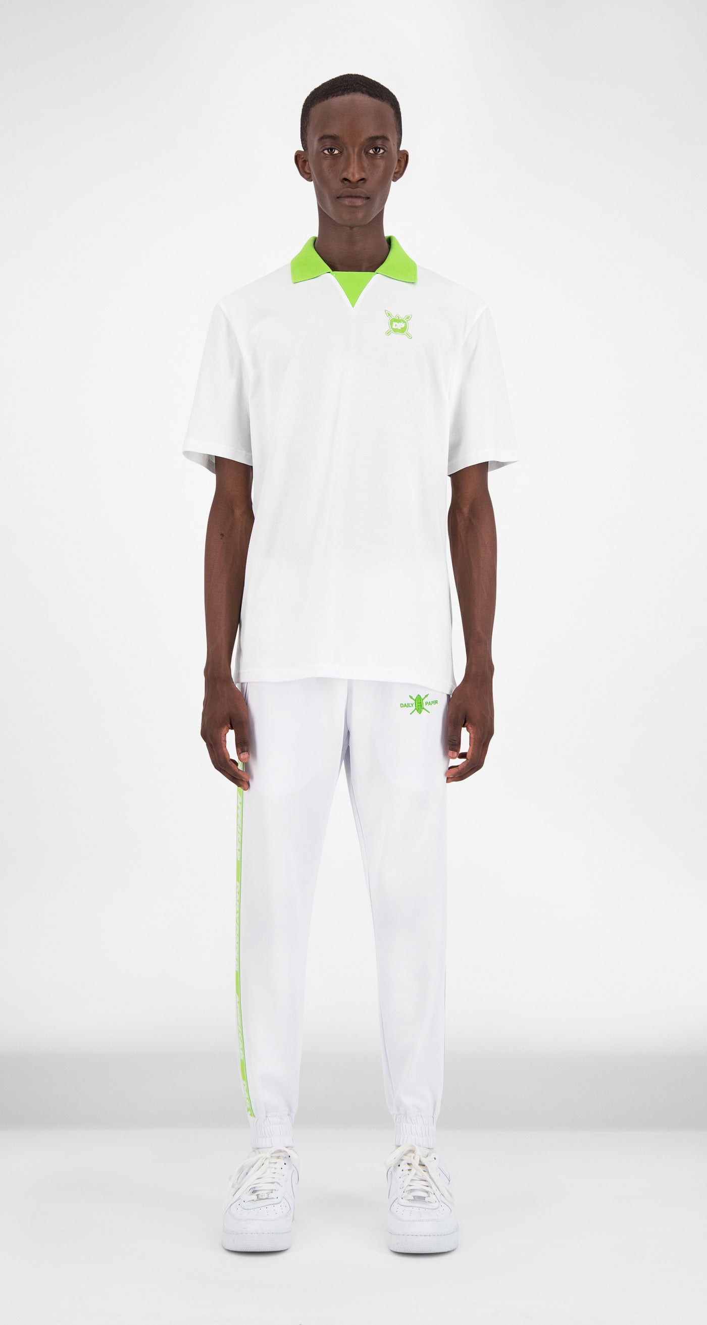 Daily Paper x Appelsap White Polo - Men Front