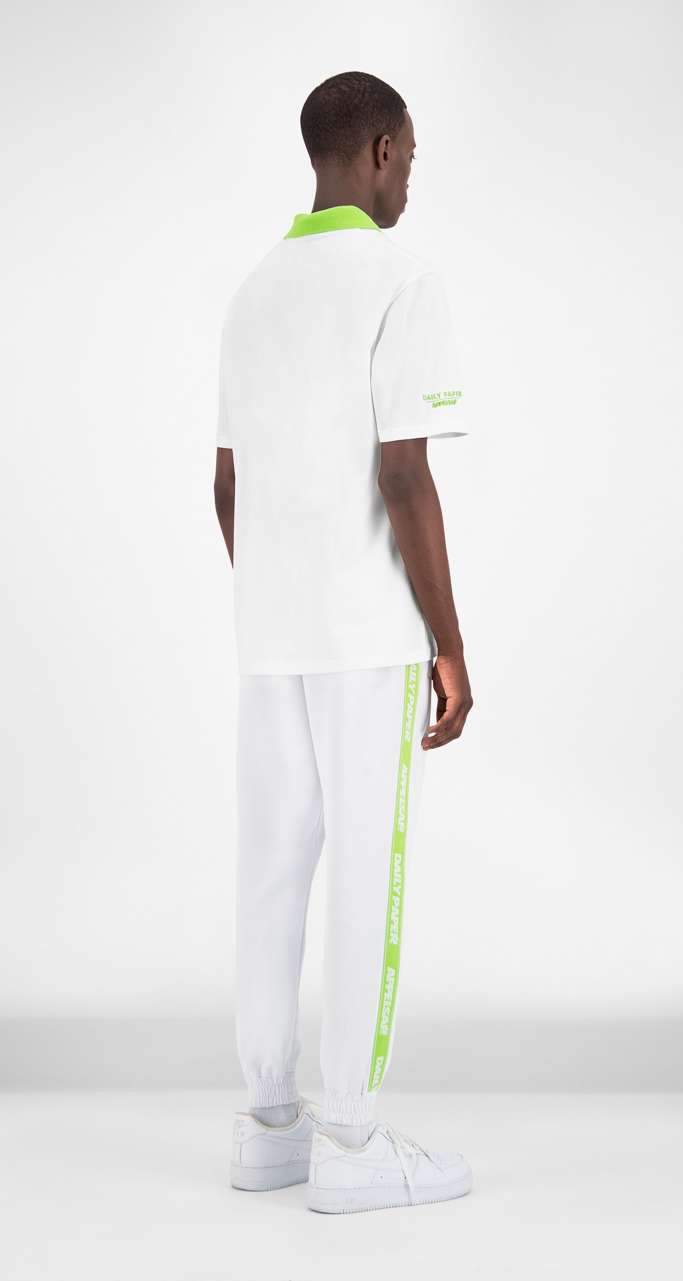 Daily Paper x Appelsap White Polo - Men Rear