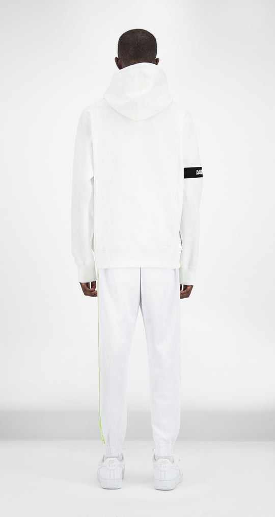 Daily Paper x Appelsap White Captain Hoody - Men Rear