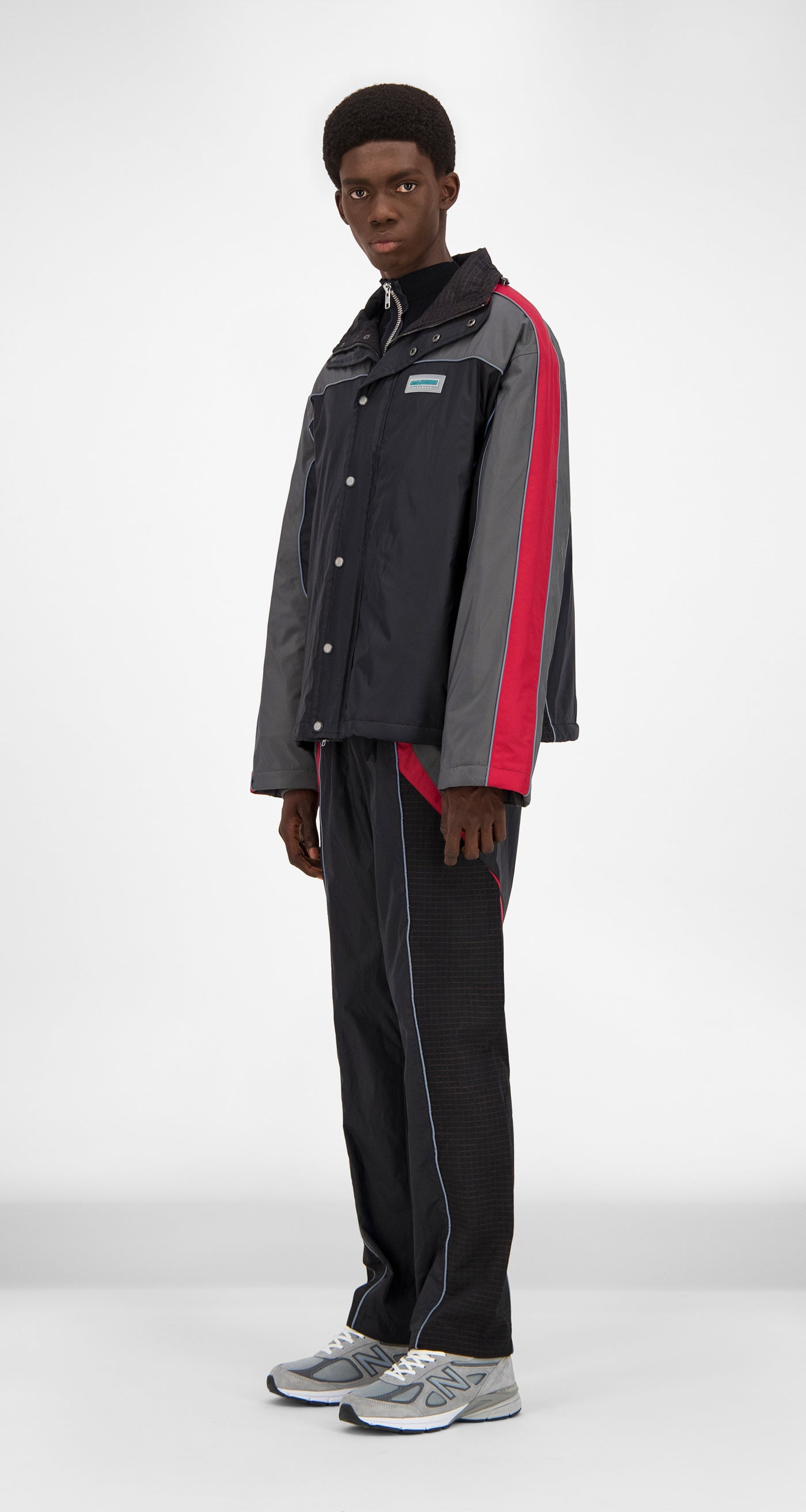 Daily Paper Black Red Gibali Jacket - Men