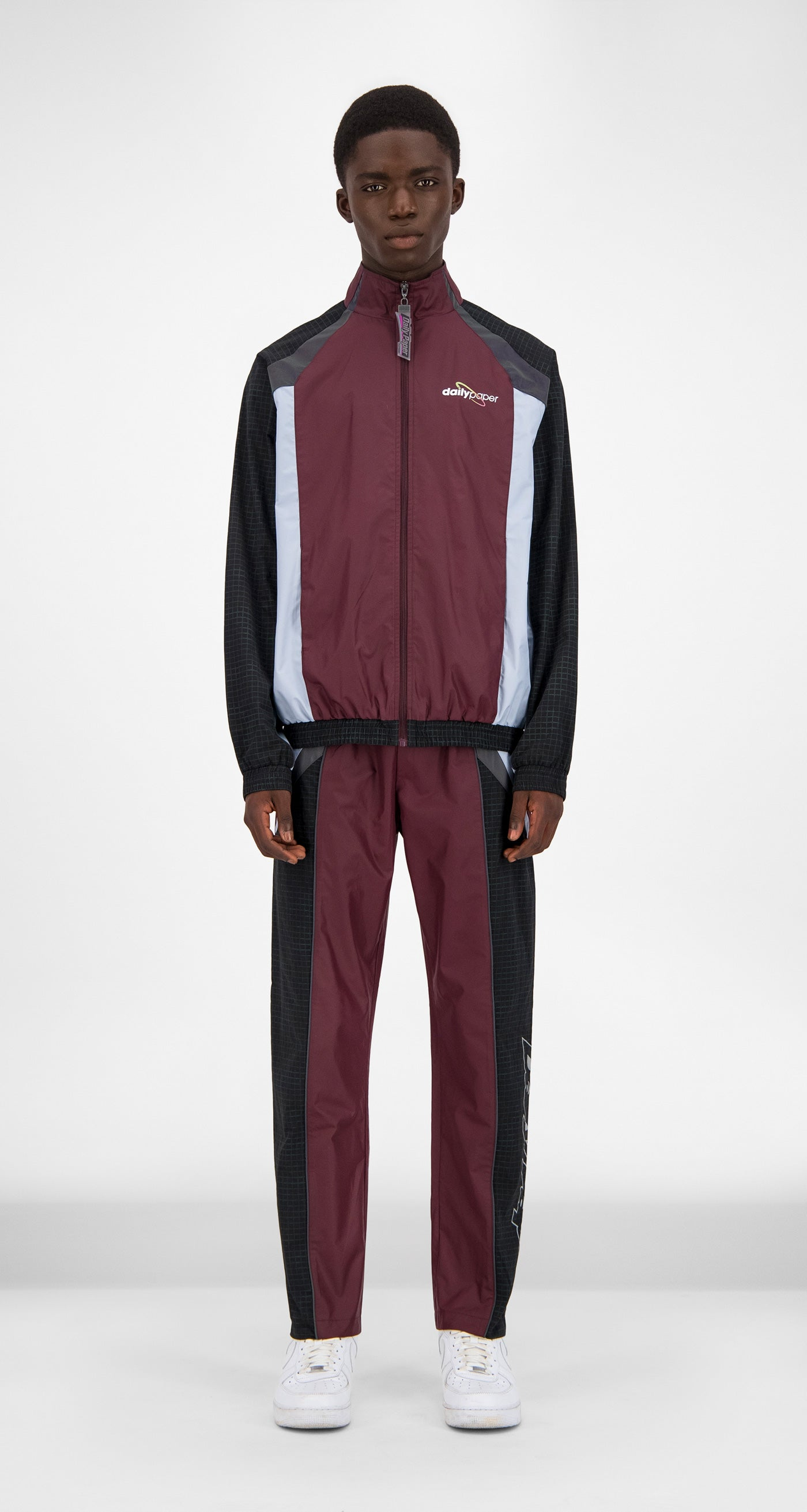 Burgundy Reflective Gasah Jacket - Men Front