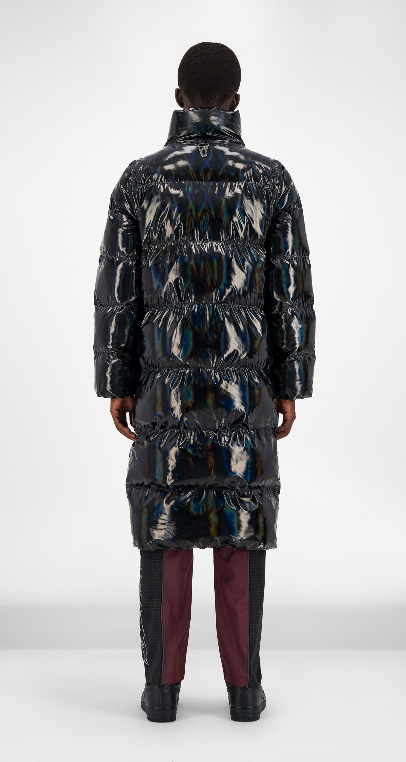 Daily Paper - Black Holographic Gubl Coat Men Rear