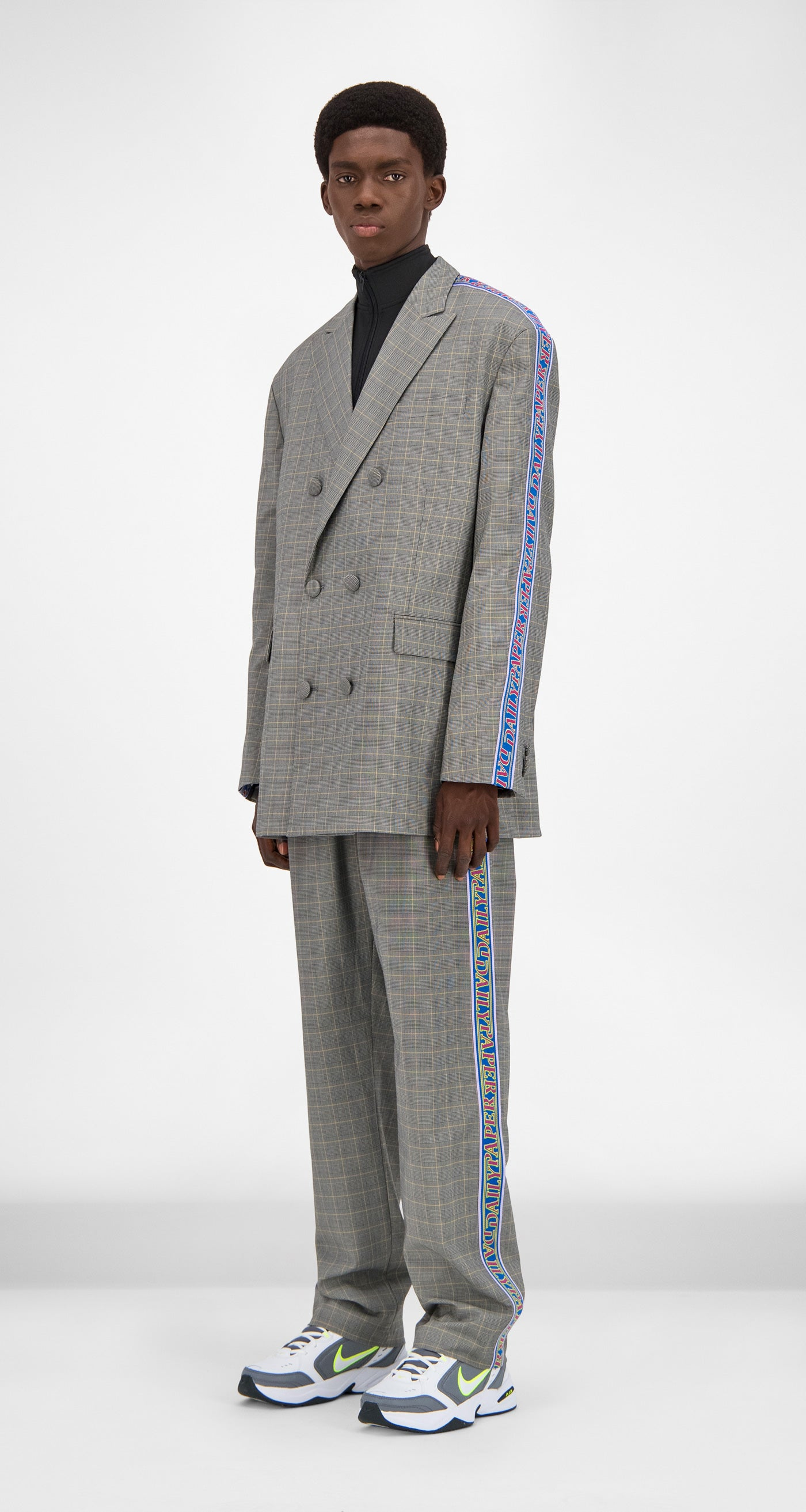 Daily Paper - Grey Yellow Checked Gecko Jacket Men