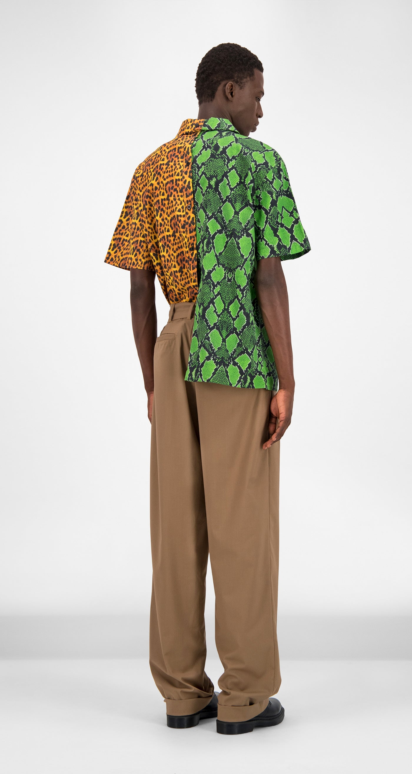 Jungle Printed Gatik Shirt - Men Rear