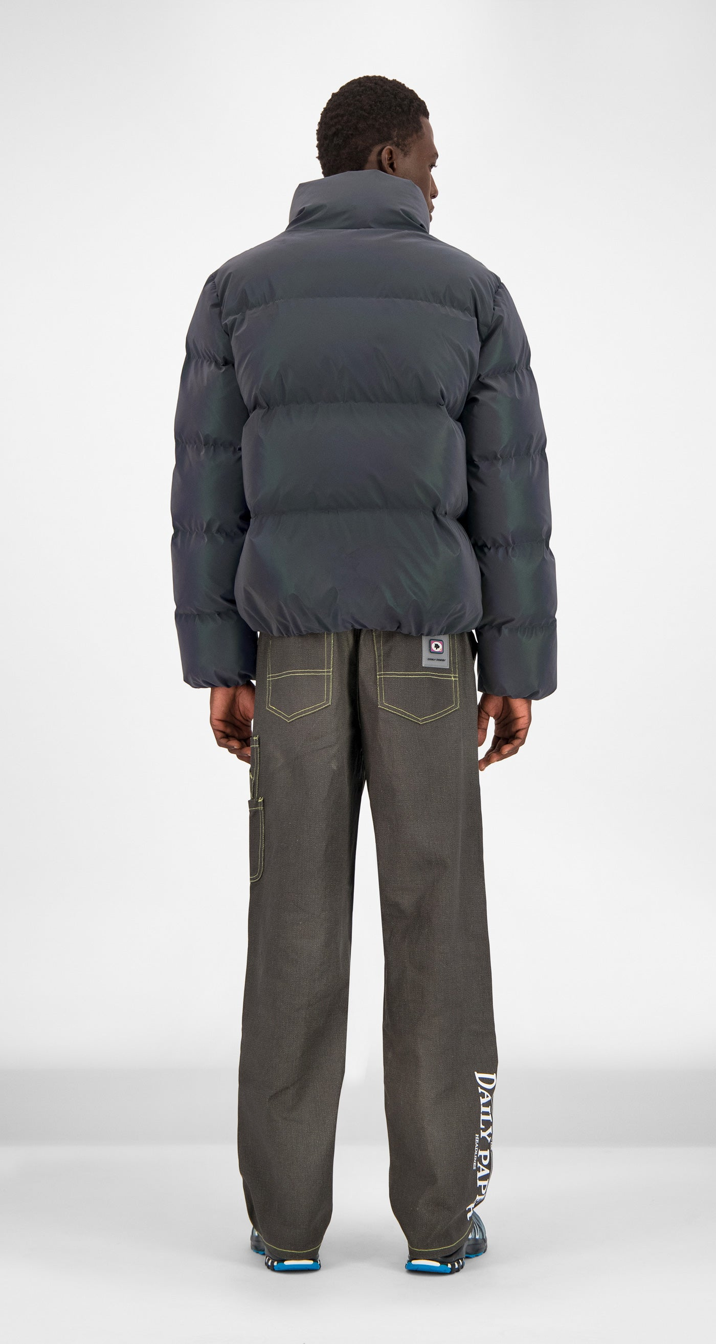 Daily Paper - Purple Reflective Core Puffer Jacket Men