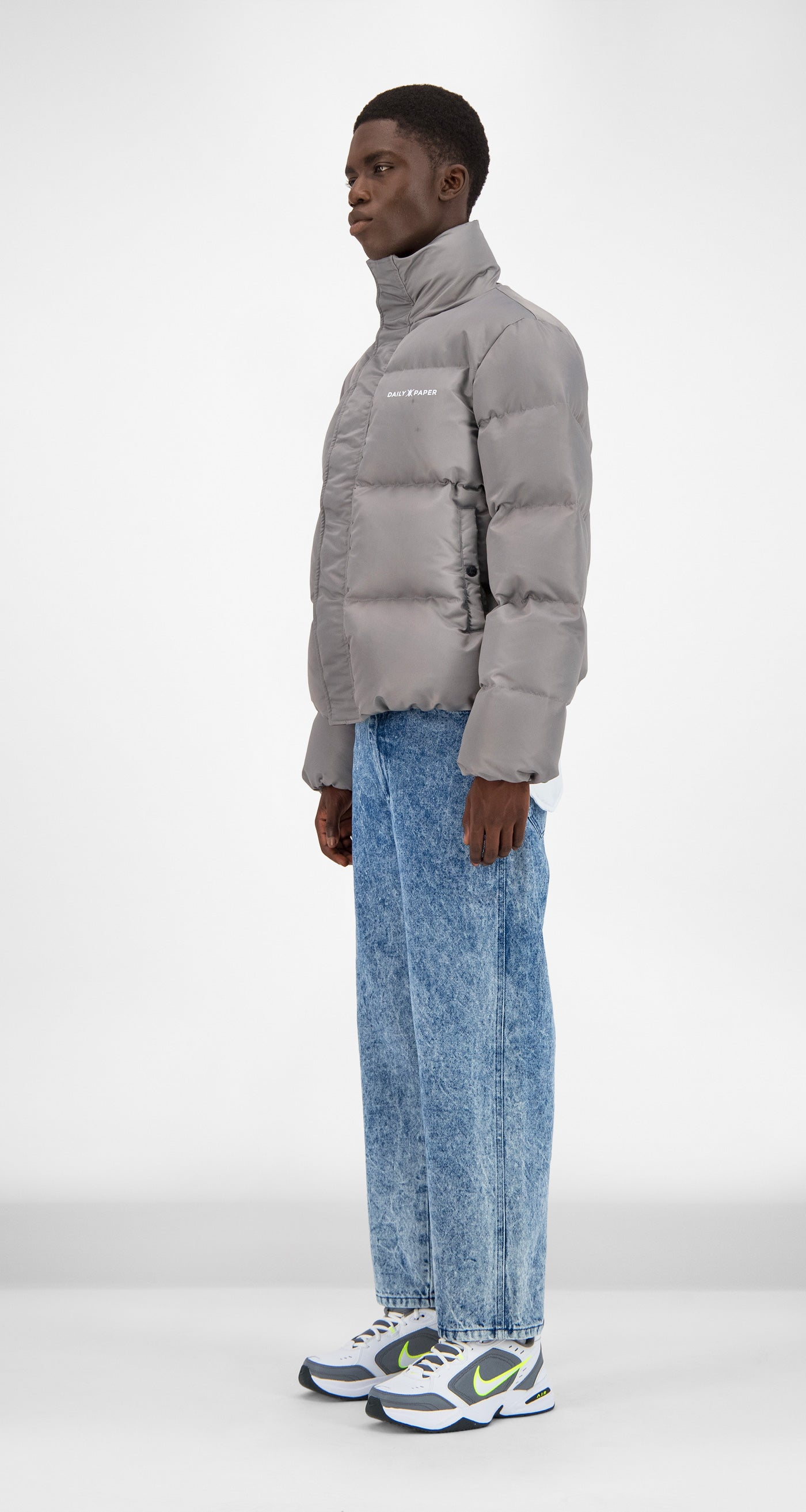 Daily Paper - Grey Flannel Core Puffer Jacket Men
