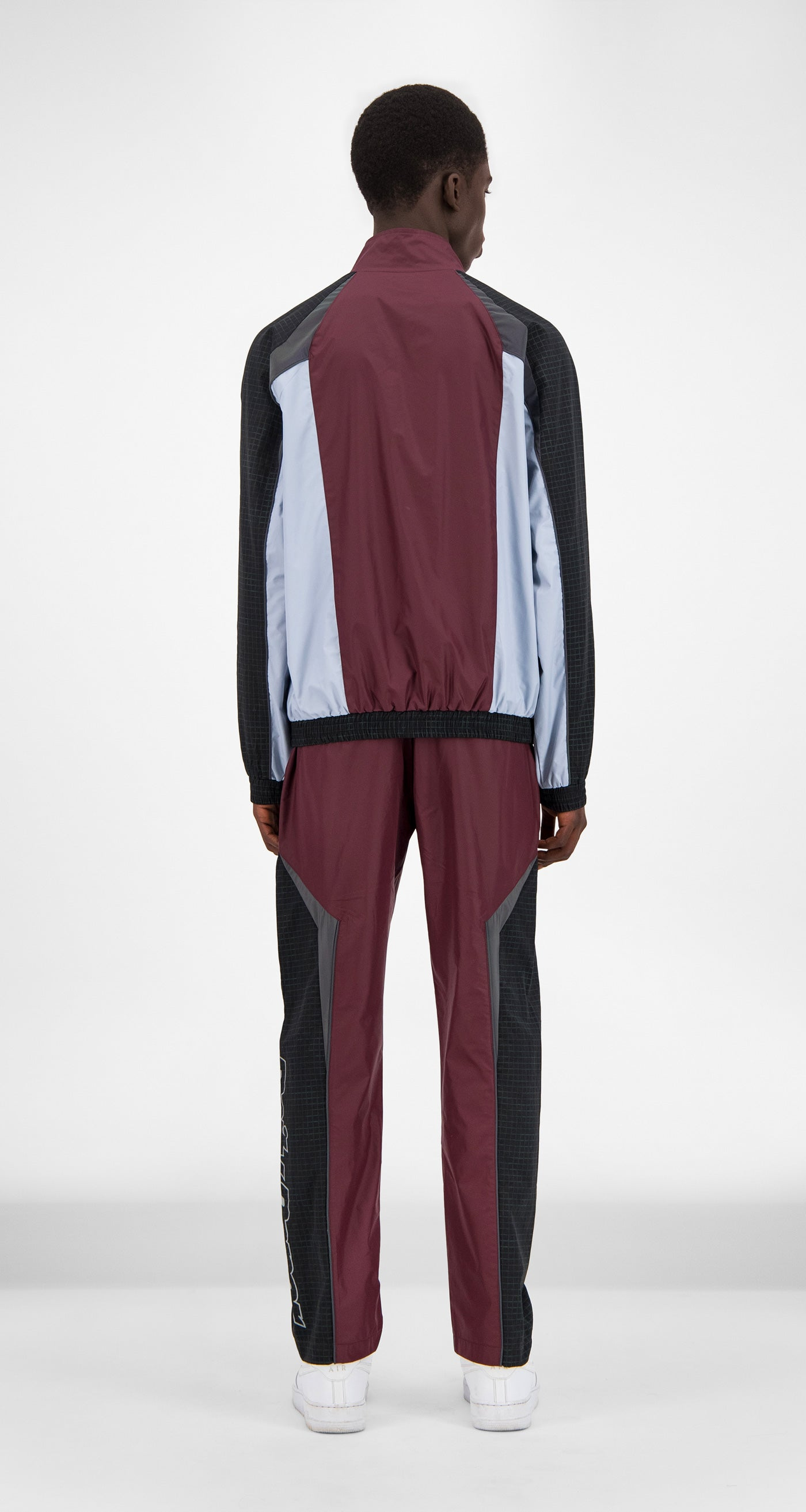 Burgundy Reflective Gasah Jacket - Men Rear