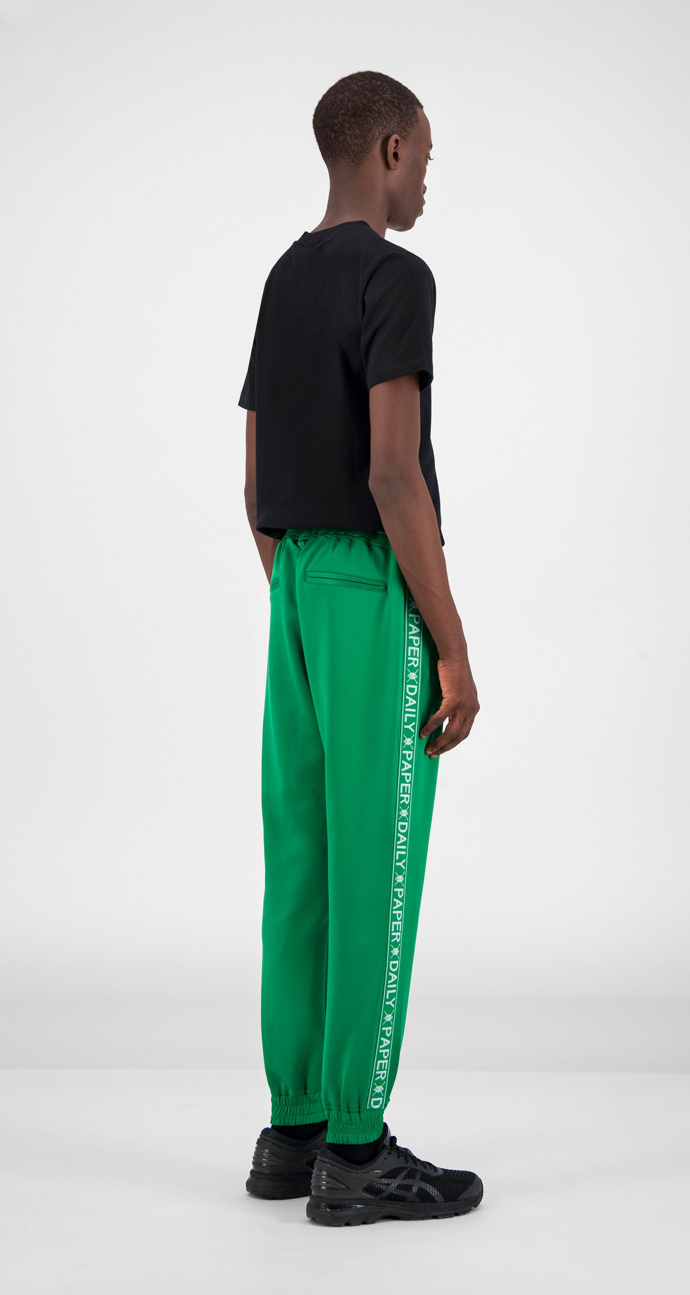Jolly Green Tape Logo Track Pants - Men Rear