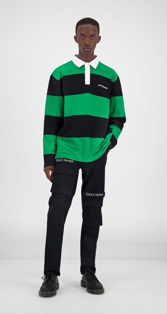 Green Polo Longsleeve - Men Front
