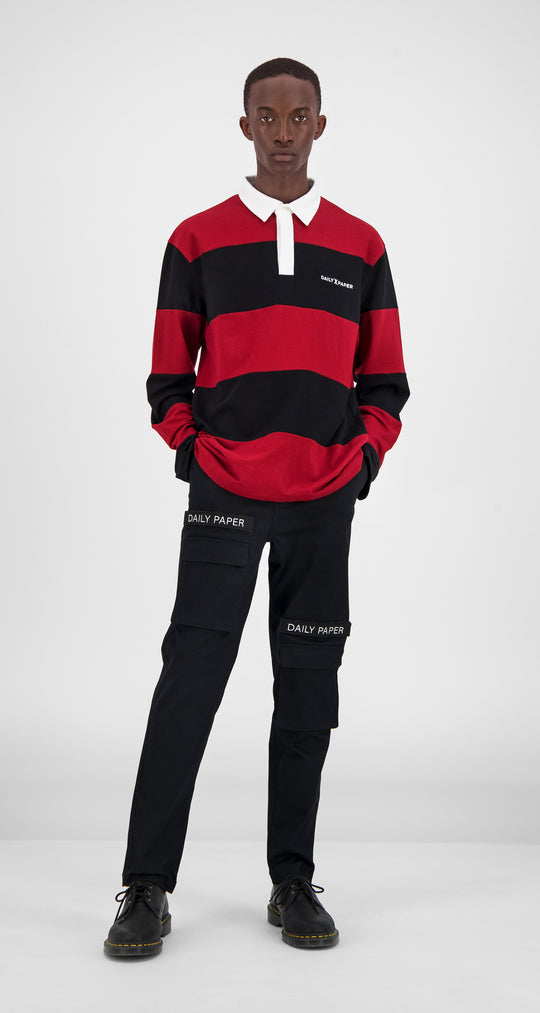 Red Polo Longsleeve - Men