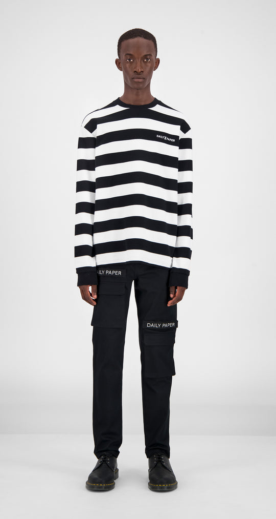 Black Striped Longsleeve - Men Front