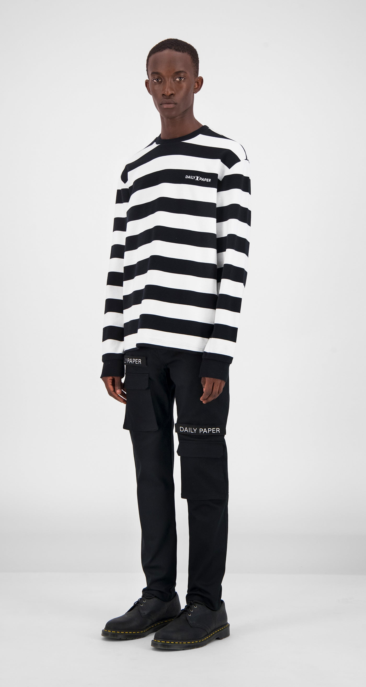 Black Striped Longsleeve - Men