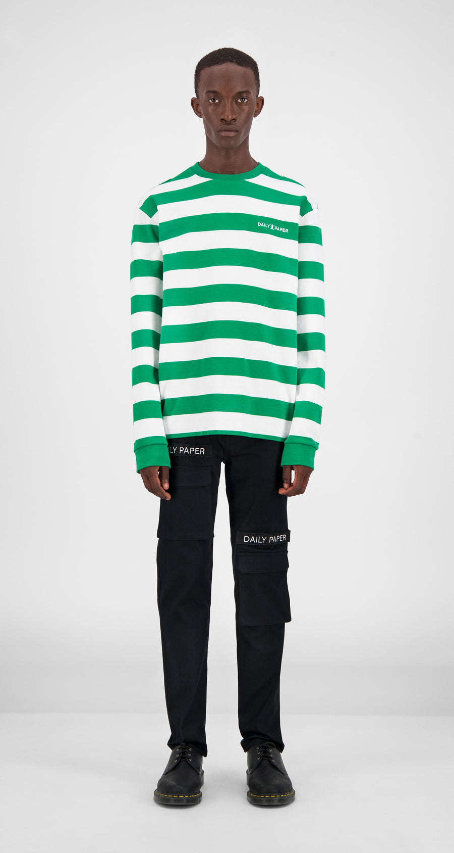 Green Striped Longsleeve - Men Front