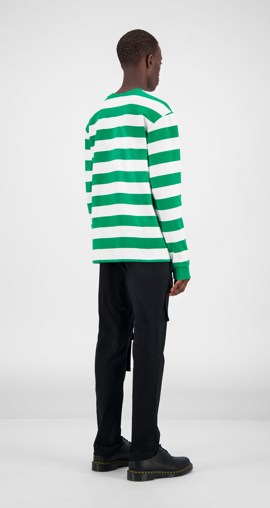 Green Striped Longsleeve - Men Rear
