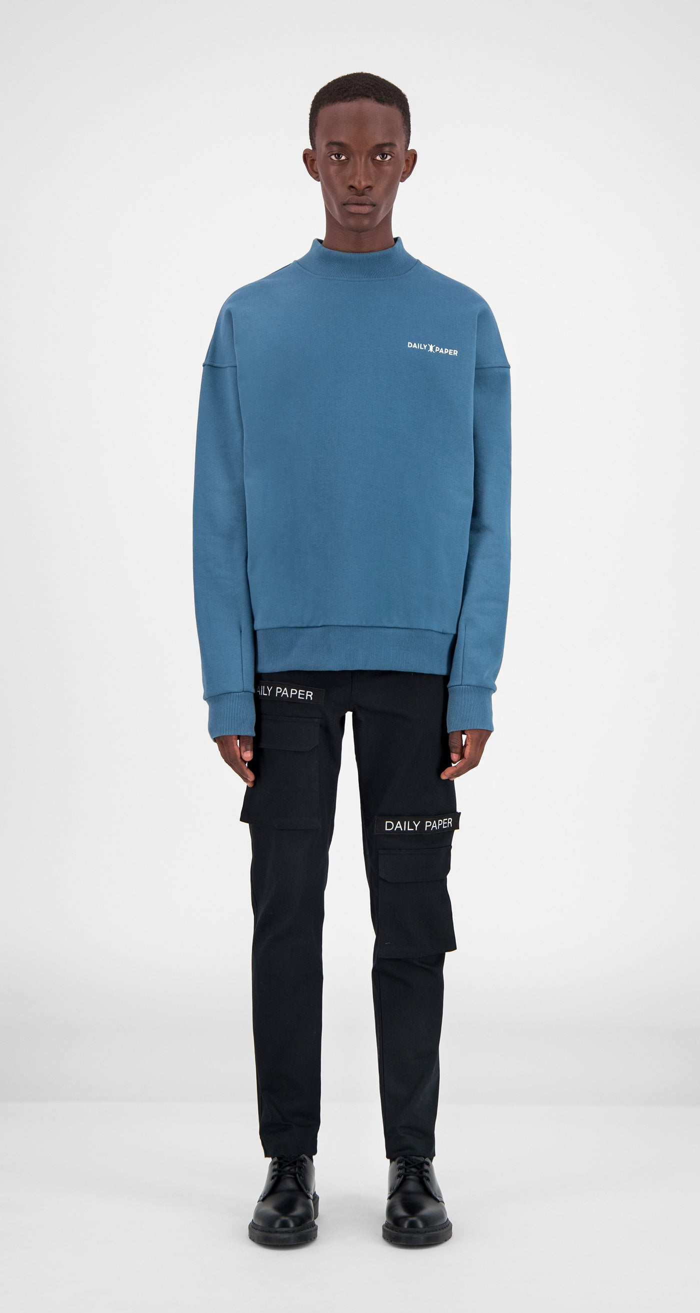 Teal Aba Sweater - Men Front