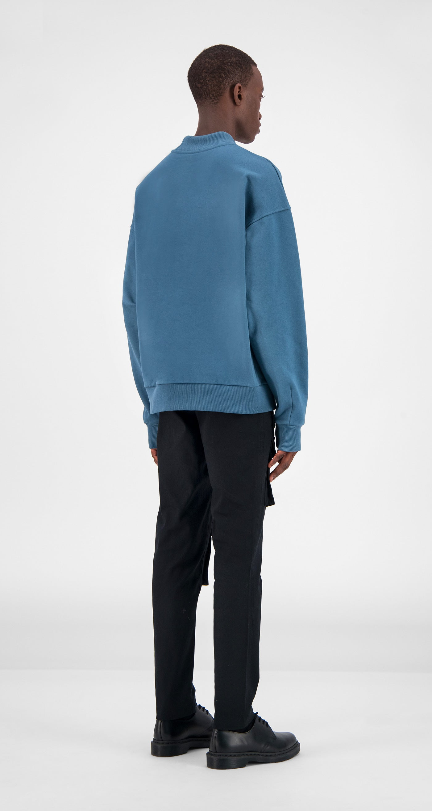 Teal Aba Sweater - Men Rear