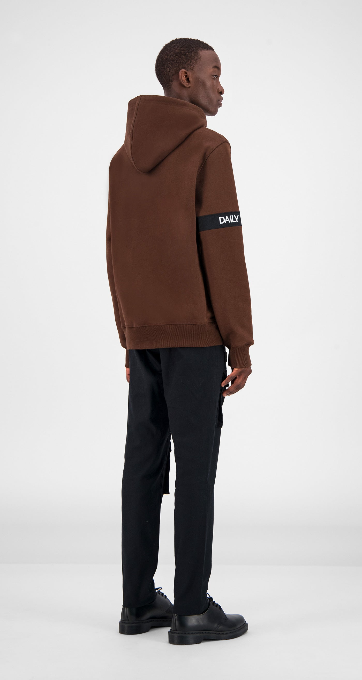 Brown Captain Hoody - Men Rear