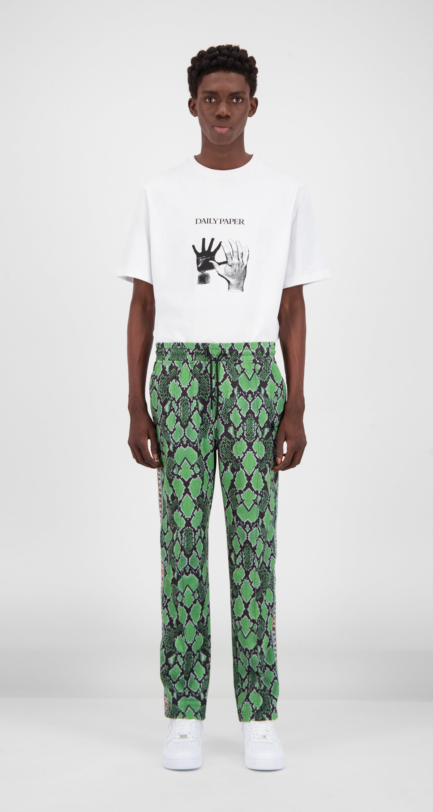 Daily Paper - Green Snake Liba Snake Pants Men